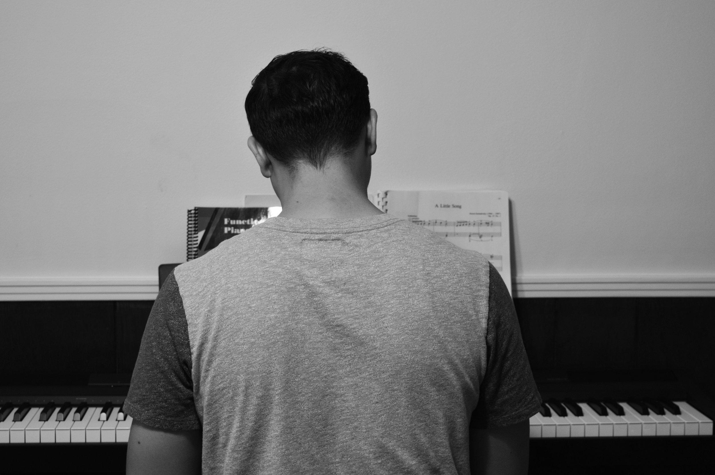 Matt plays a piano serenade for us.
