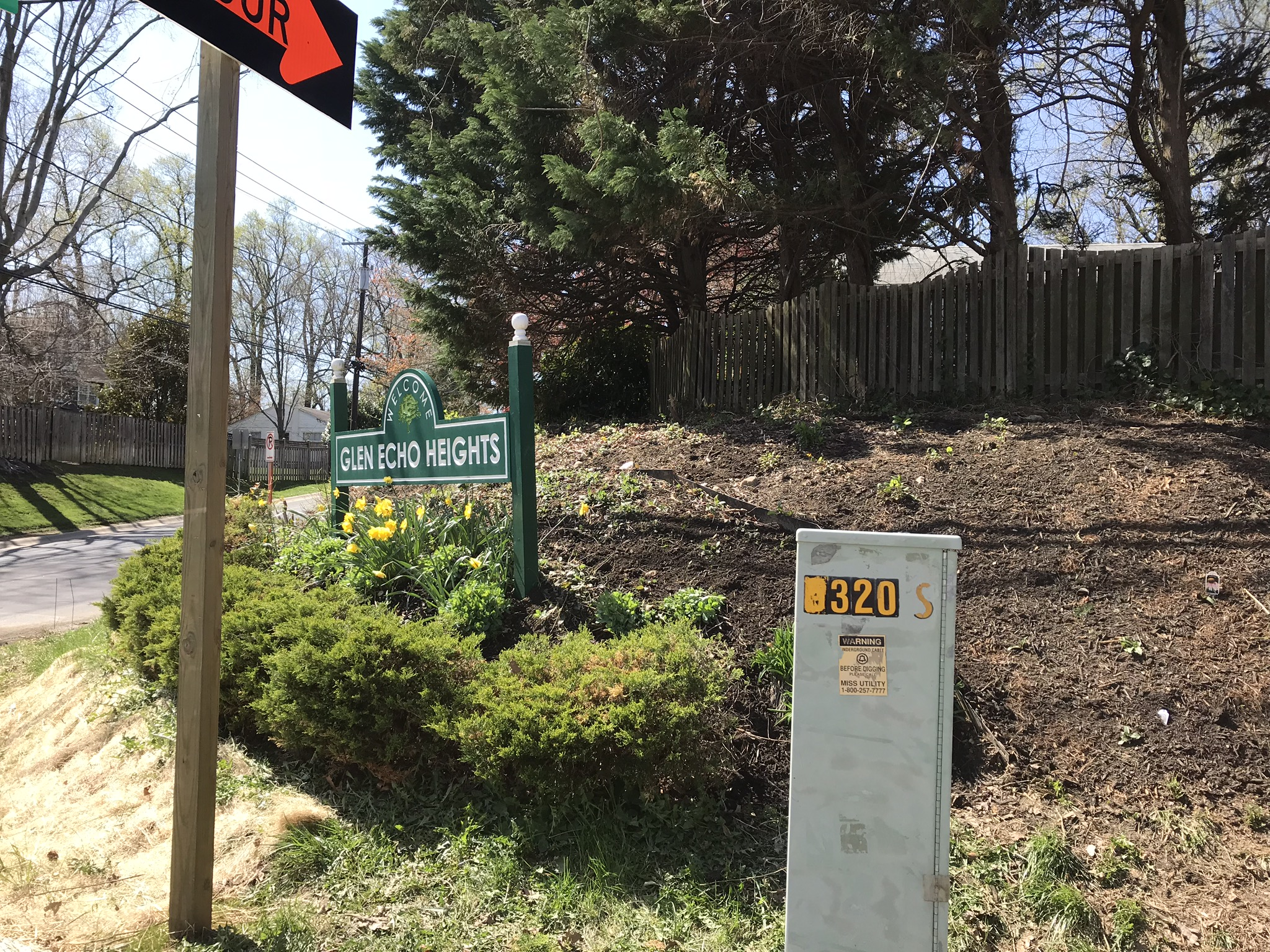 Views of newly installed native plants on April 8, 2018