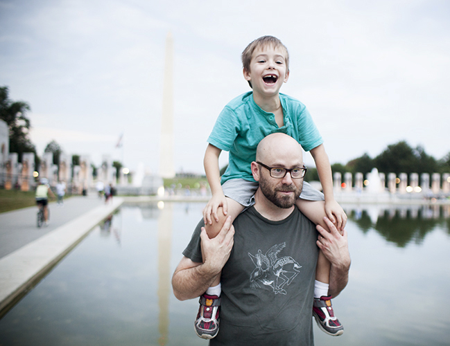 Bishop and Daddy in Washington D.C.