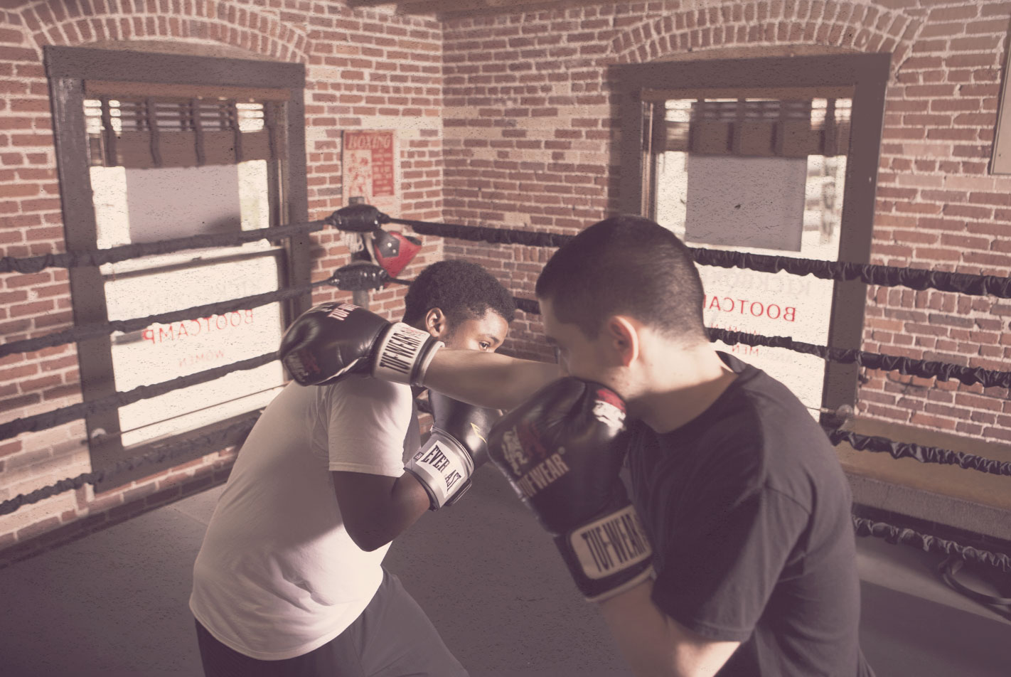 Elite Sparring in the ring.