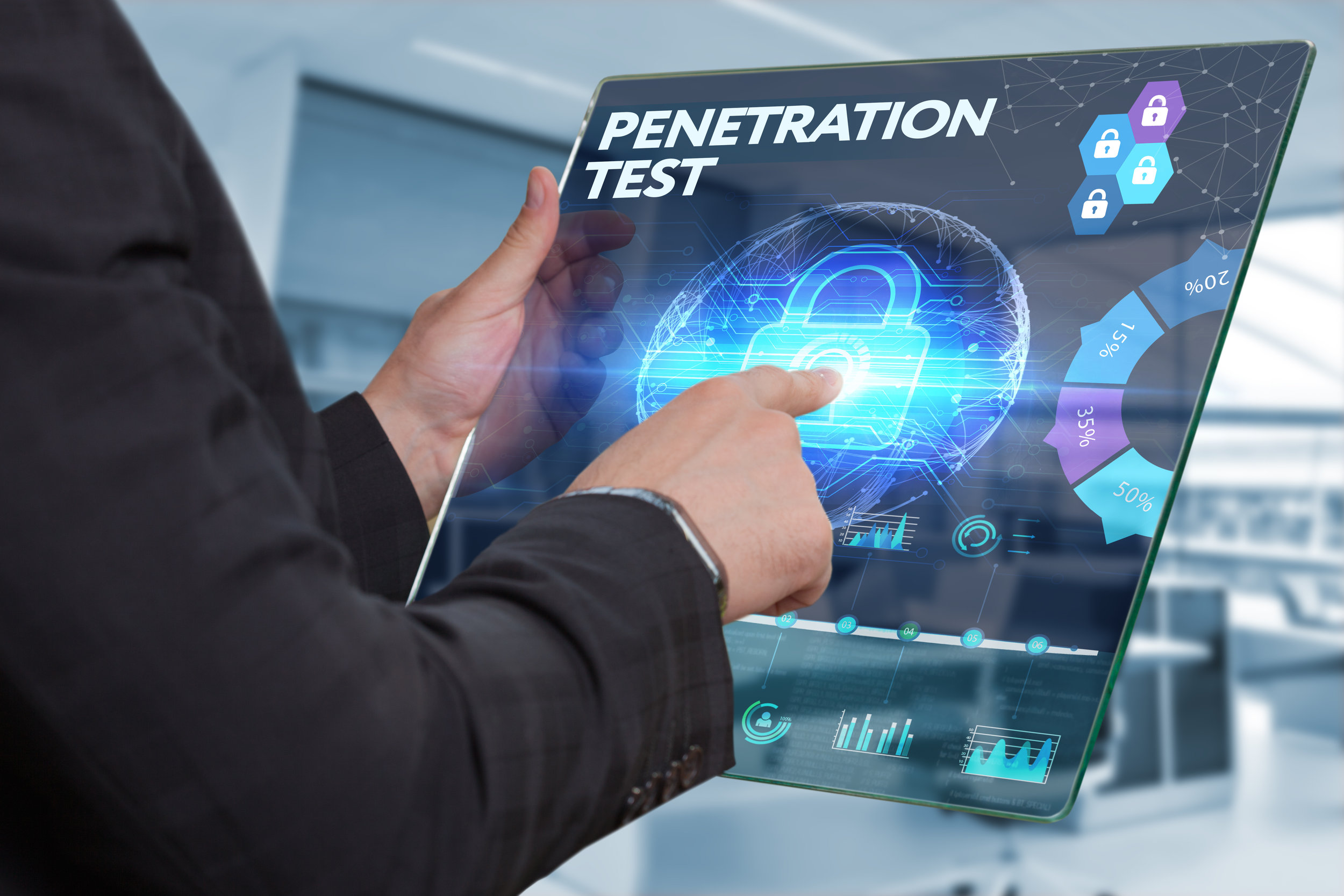 "Penetration Testing - Often termed as ""ethical hacking,"" is a service provided to ensure that even the bad guys can't get to your systems."