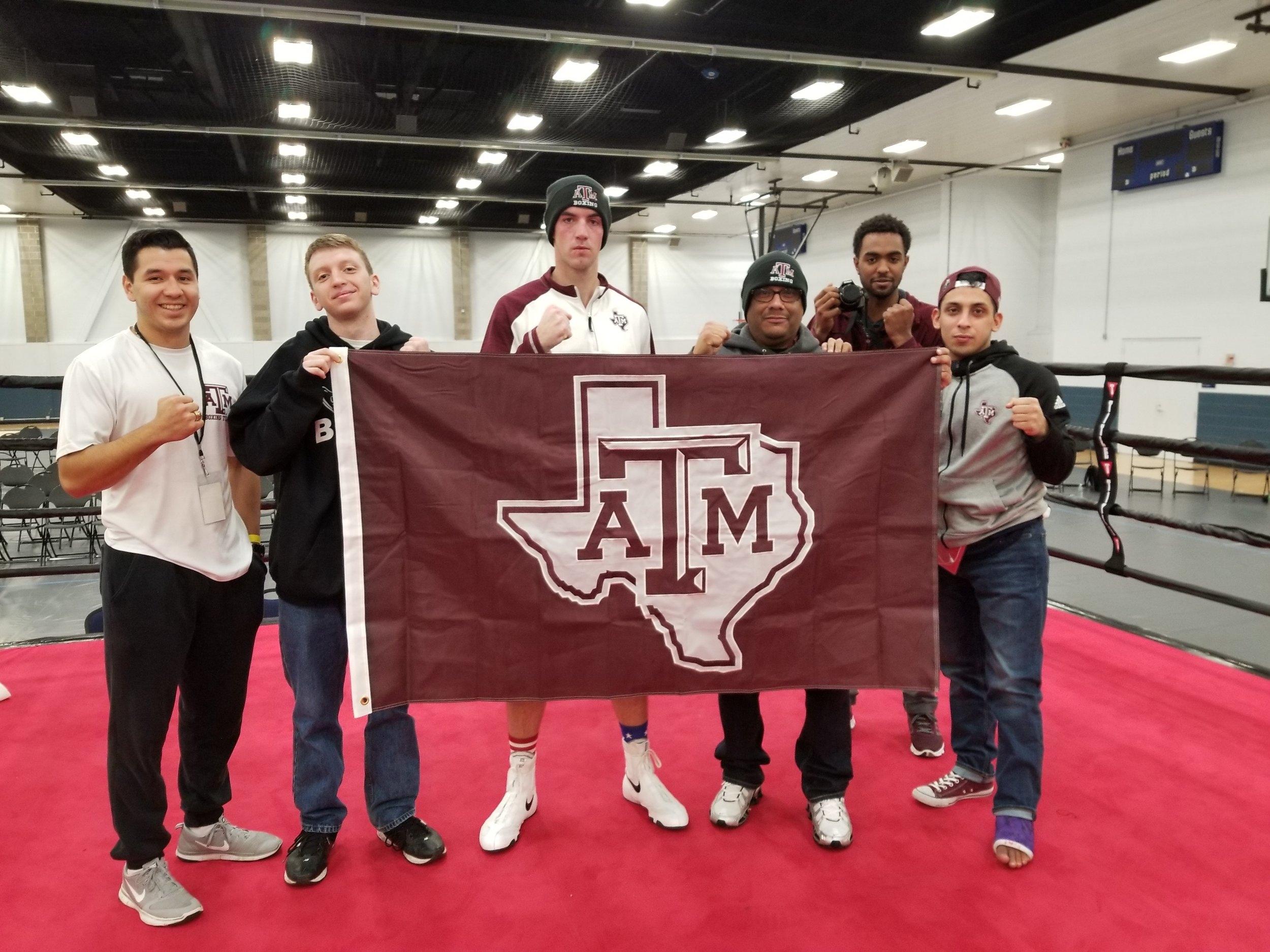 Noah Douglas, USIBA Student Athlete Representative, and Texas A & M Team