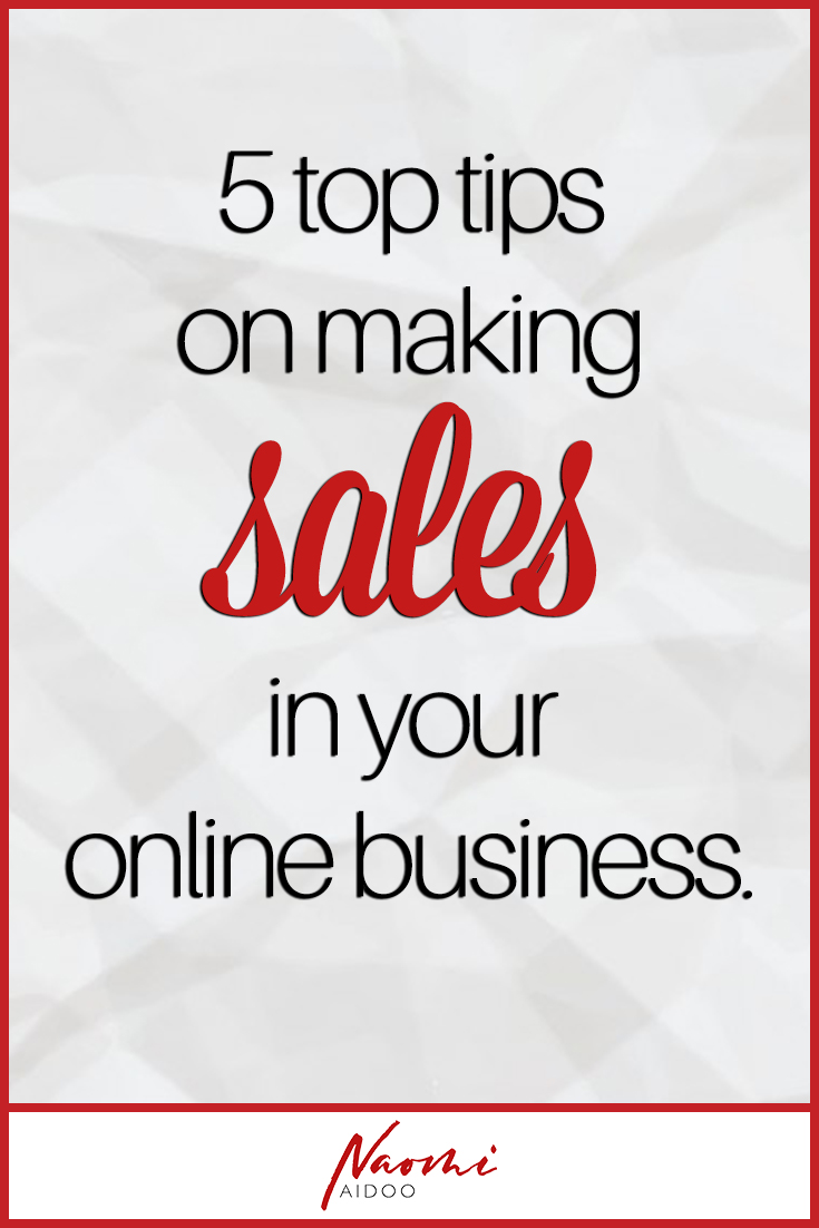 sales 5 top tips