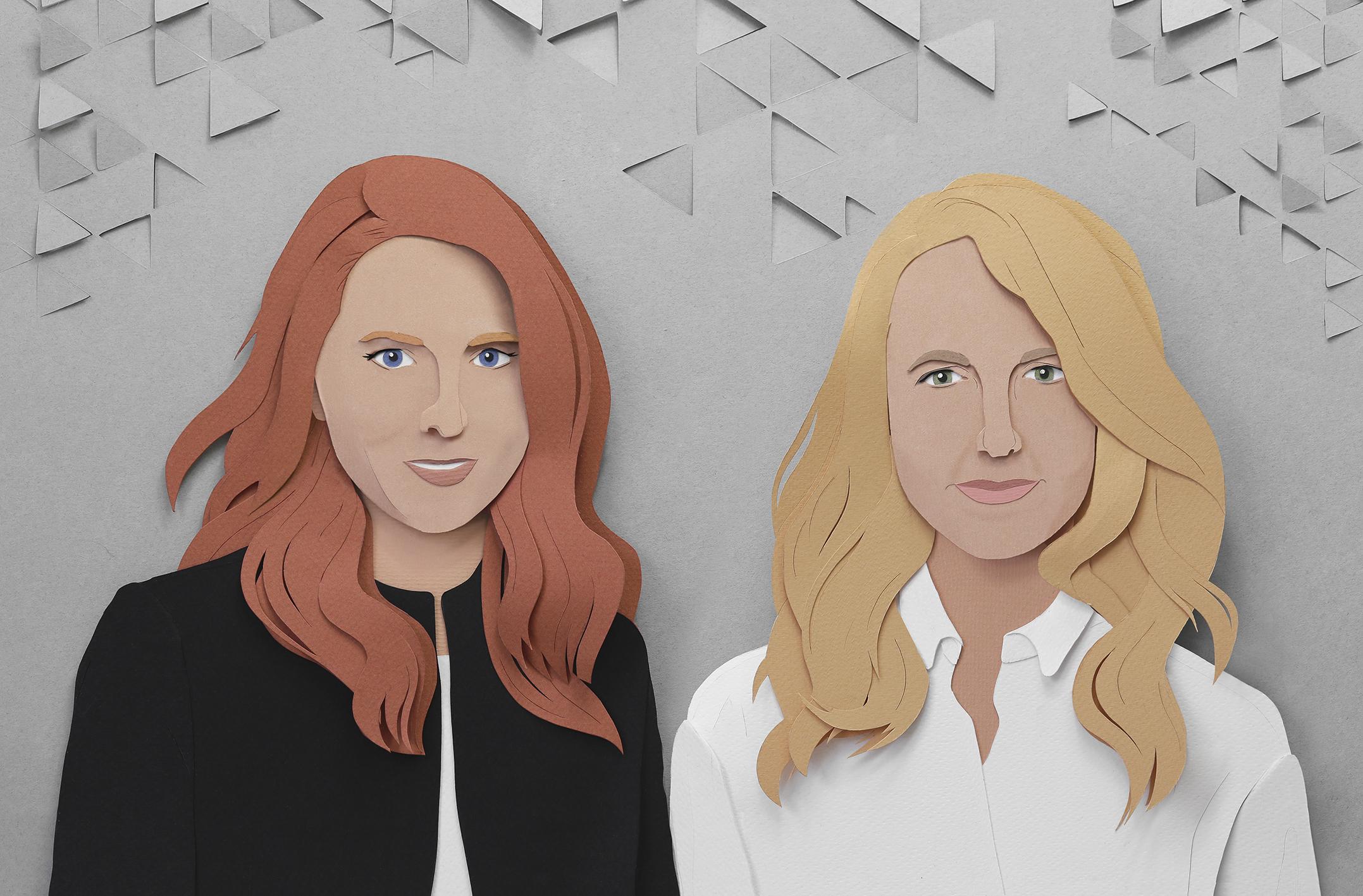 AD MAGAzine- paper portraits