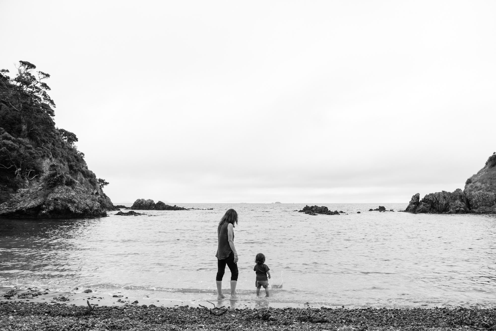 Jayme and Kian enjoying the bay