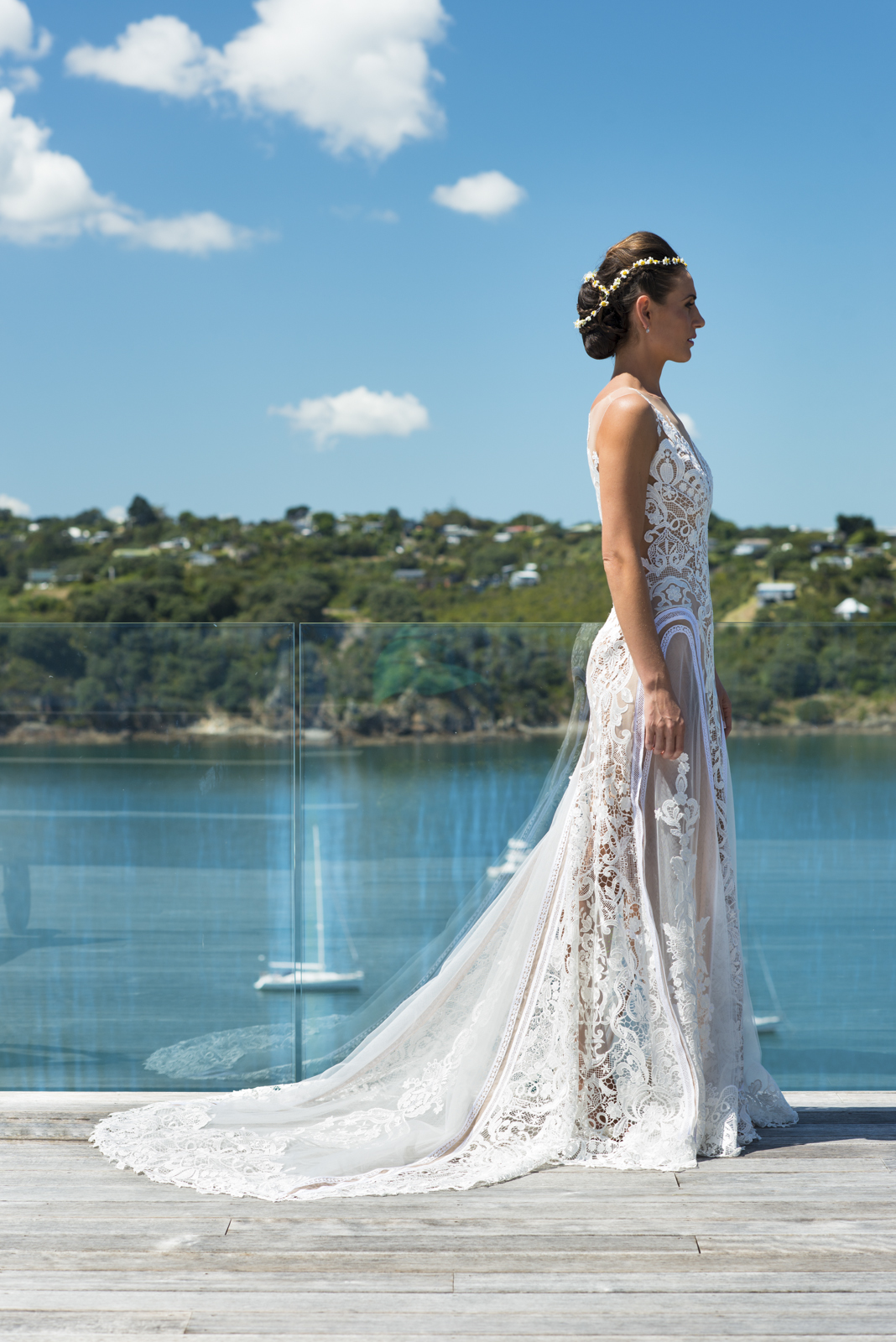 The dress was handmade in Australia by Janton Couture