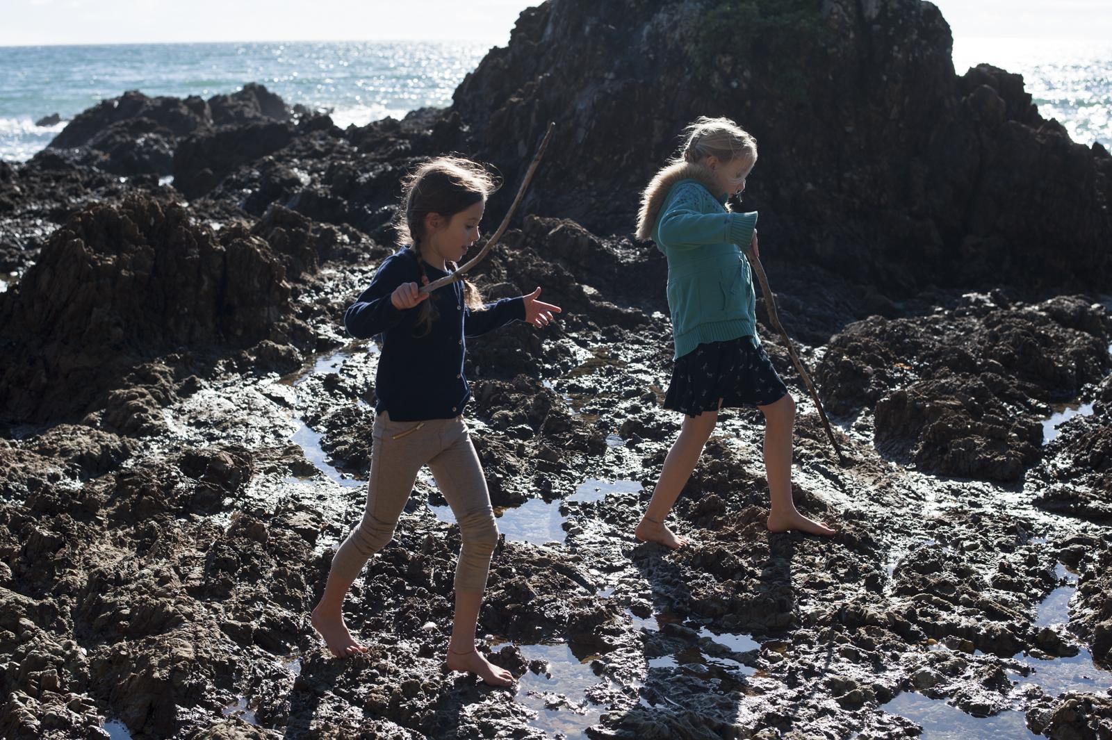 You get tough feet growing up on an island
