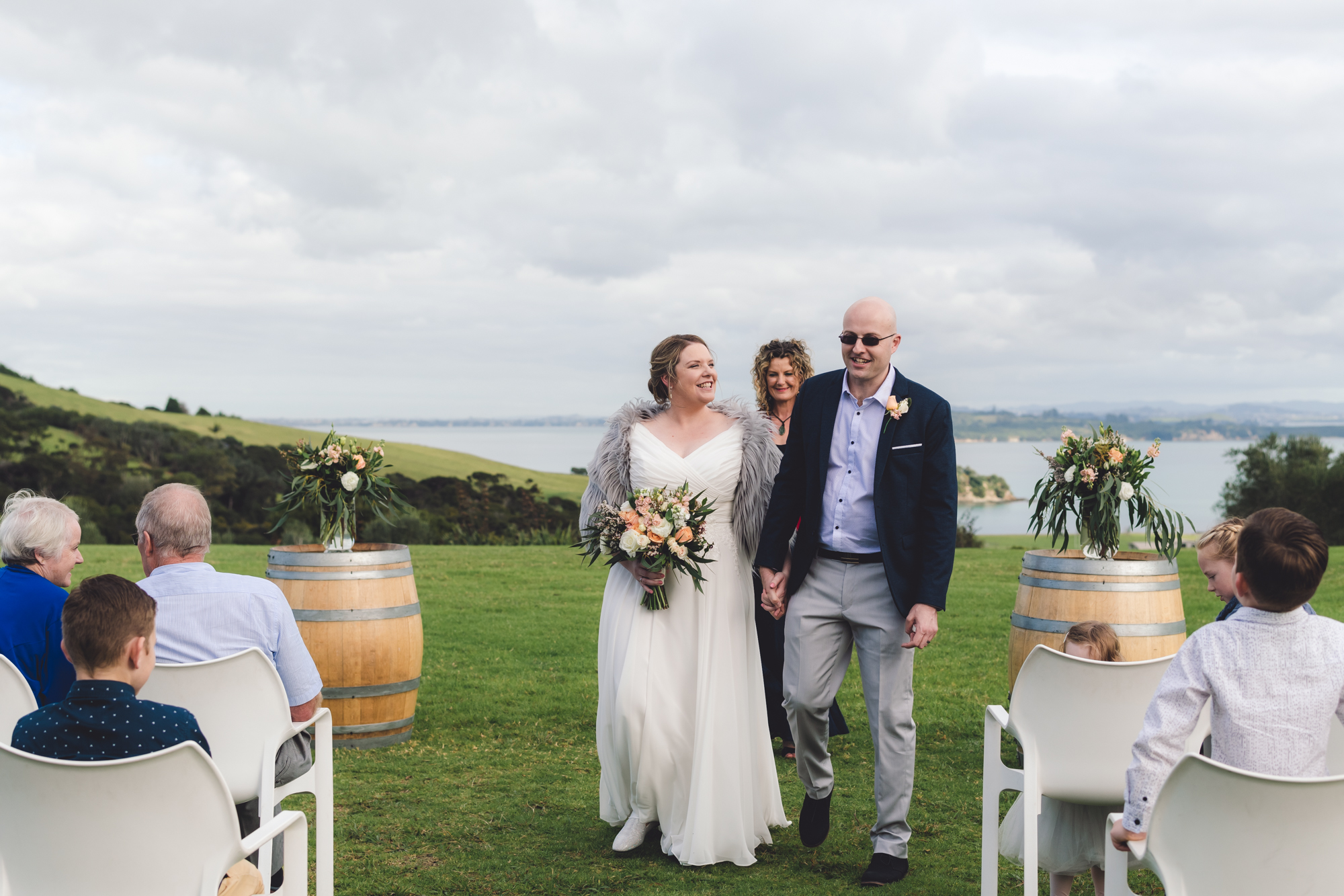 Amanda and Andrew - Cable Bay Vineyard, Waiheke