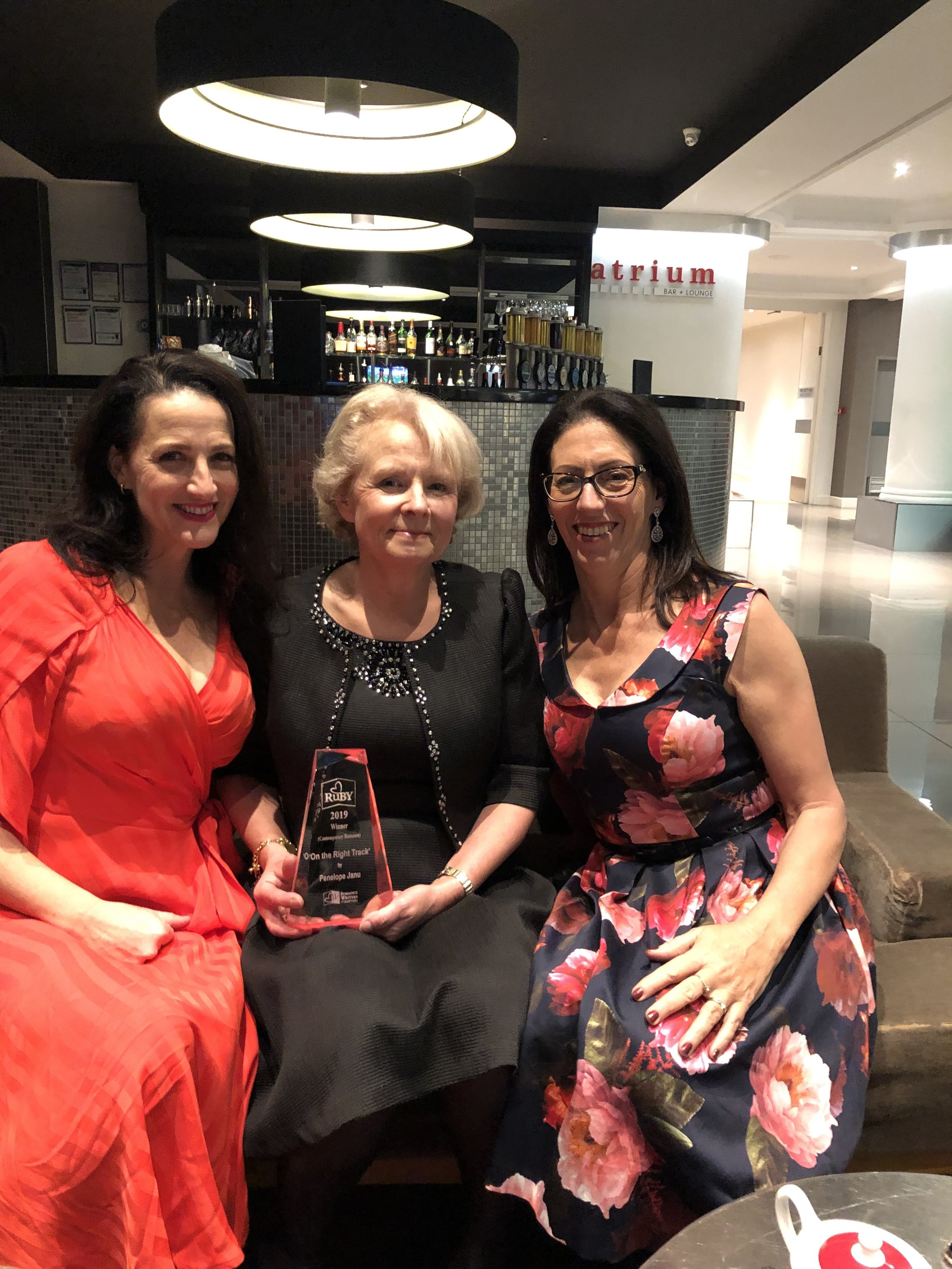 Celebrations with fellow authors Pamela Cook and Rae Cairns
