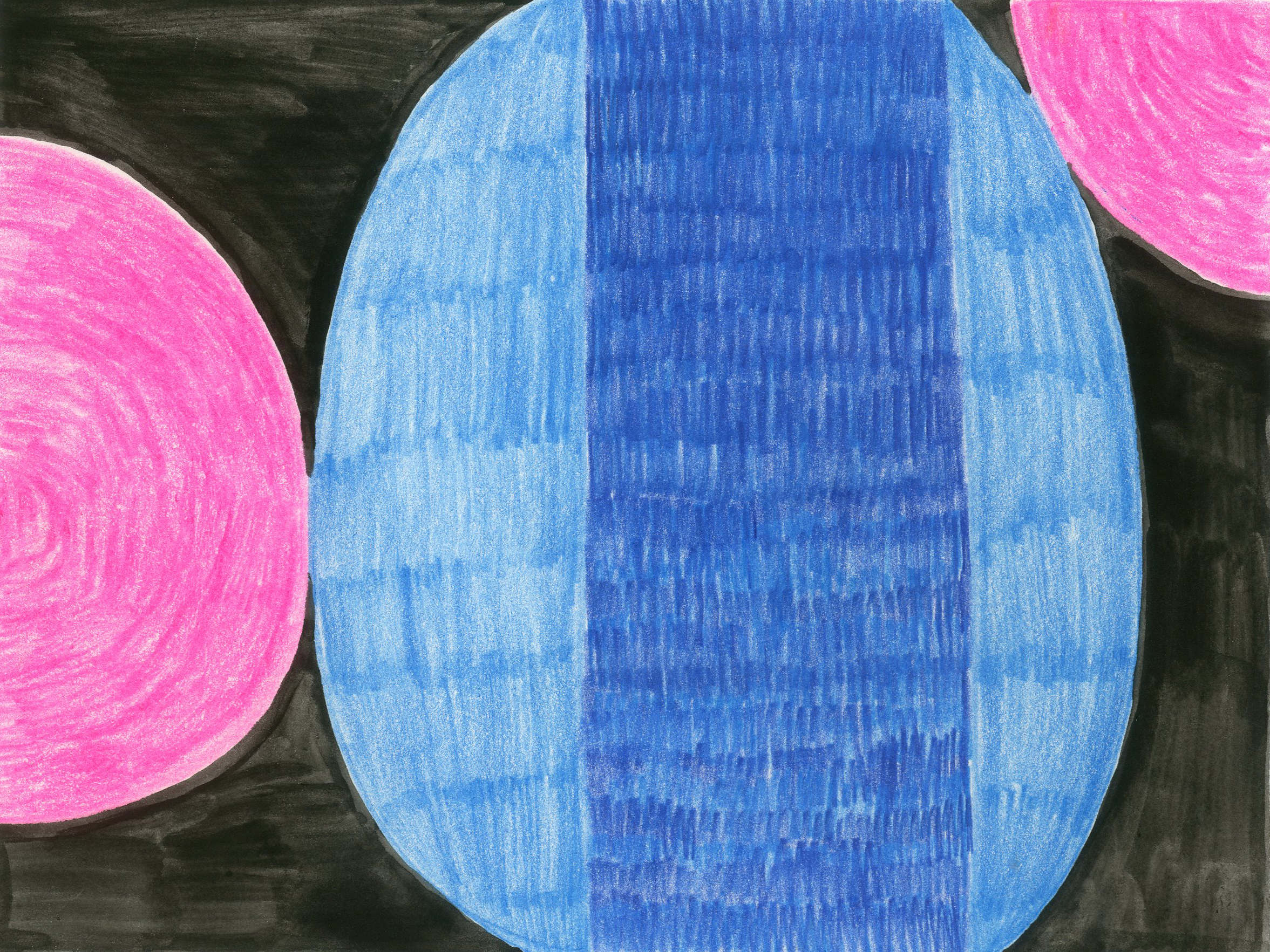 """""""Blue + Pink"""" - Colored Pencil and Water Color"""