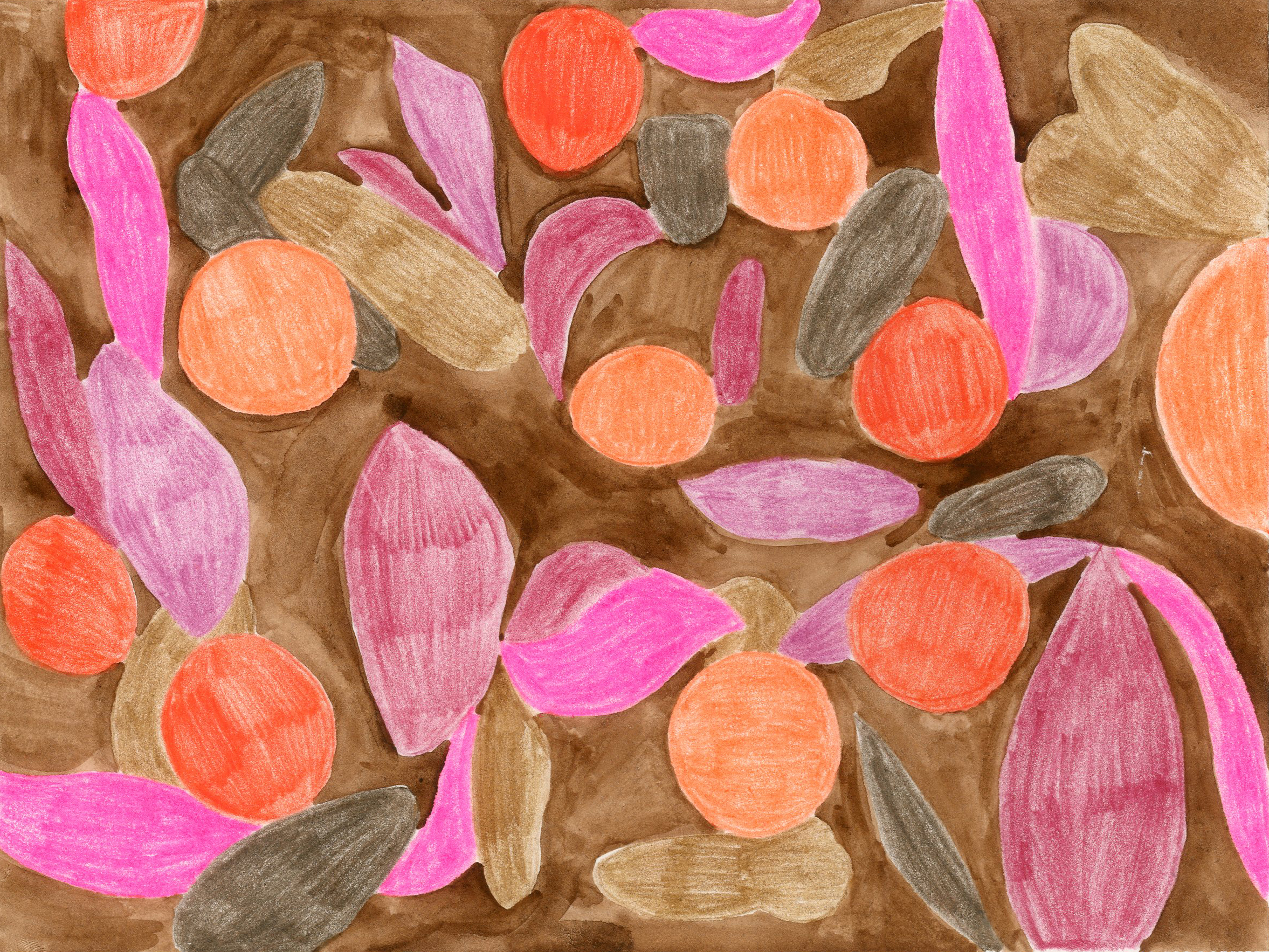 """""""Warm Fall Days"""" -Colored Pencil and Water Color"""