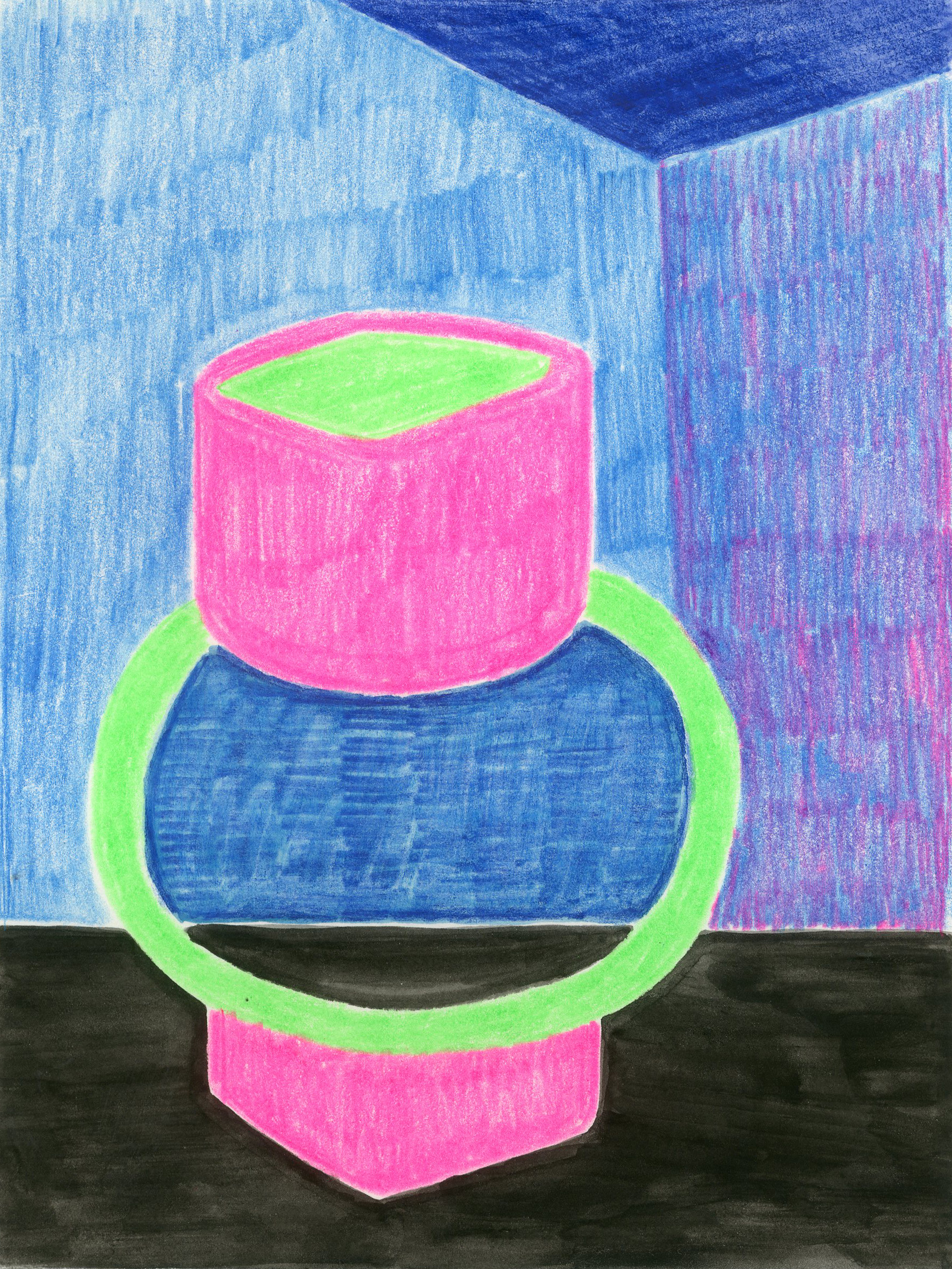 Glowing Vessel - Colored Pencil and Water Color