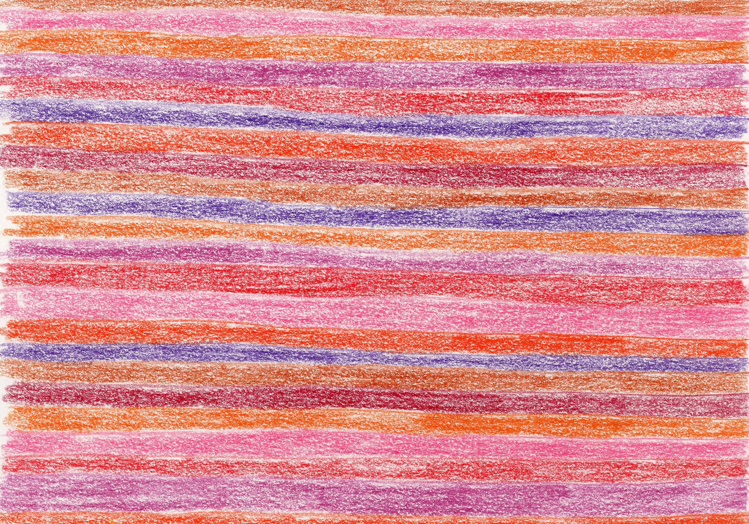"""""""Warm Stripes"""" - Colored Pencil"""