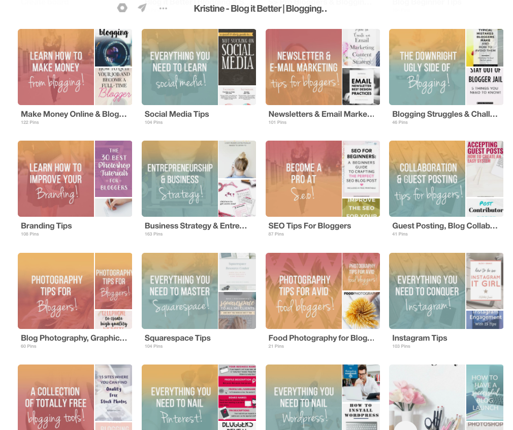 Pin to the Blog it Better Tribe Pinterest Board