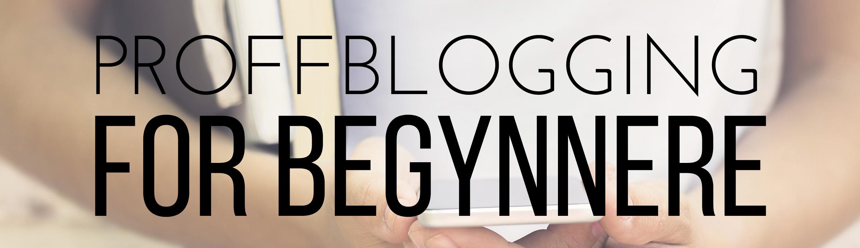 kurs i blogging for begynnere