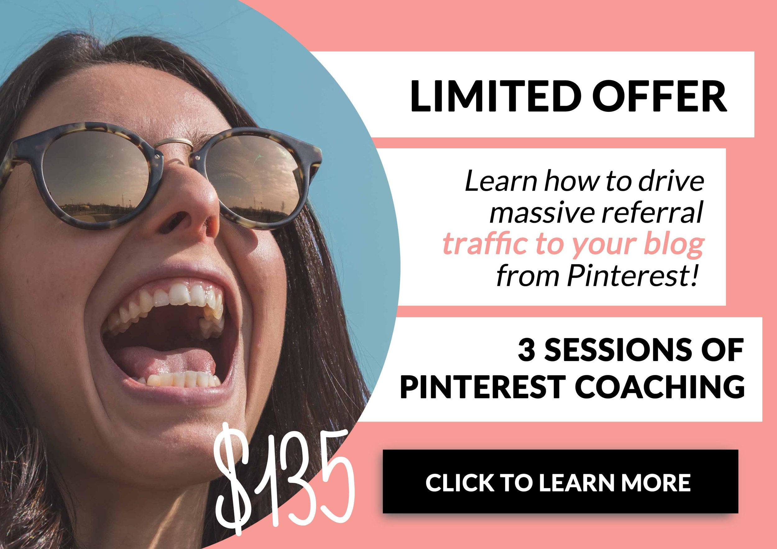 Drive Traffic To Your Blog! Pinterest Coaching Offer - 3 Sessions for $135