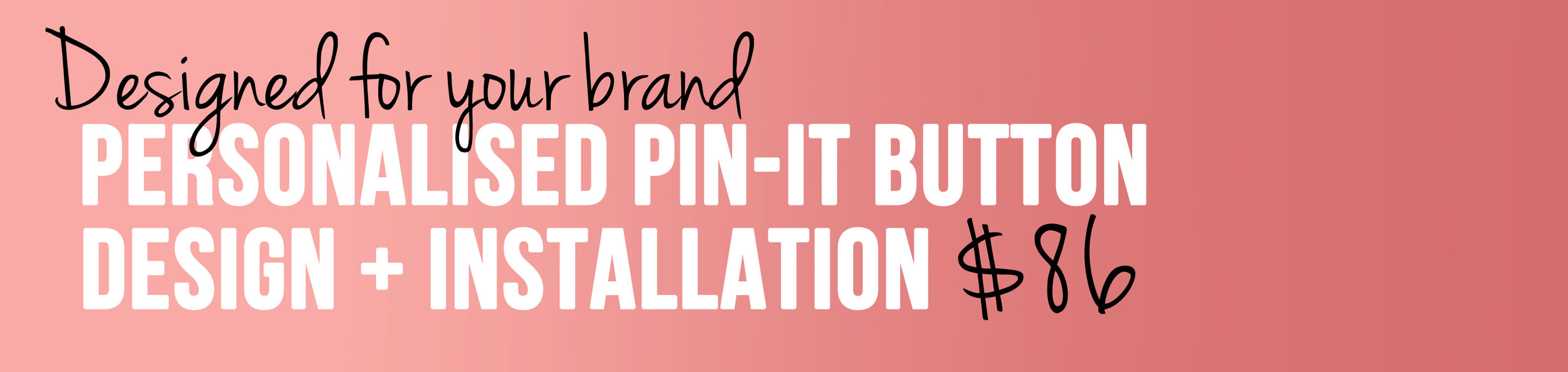 Personalised custom pinterest pin-it button for your brand