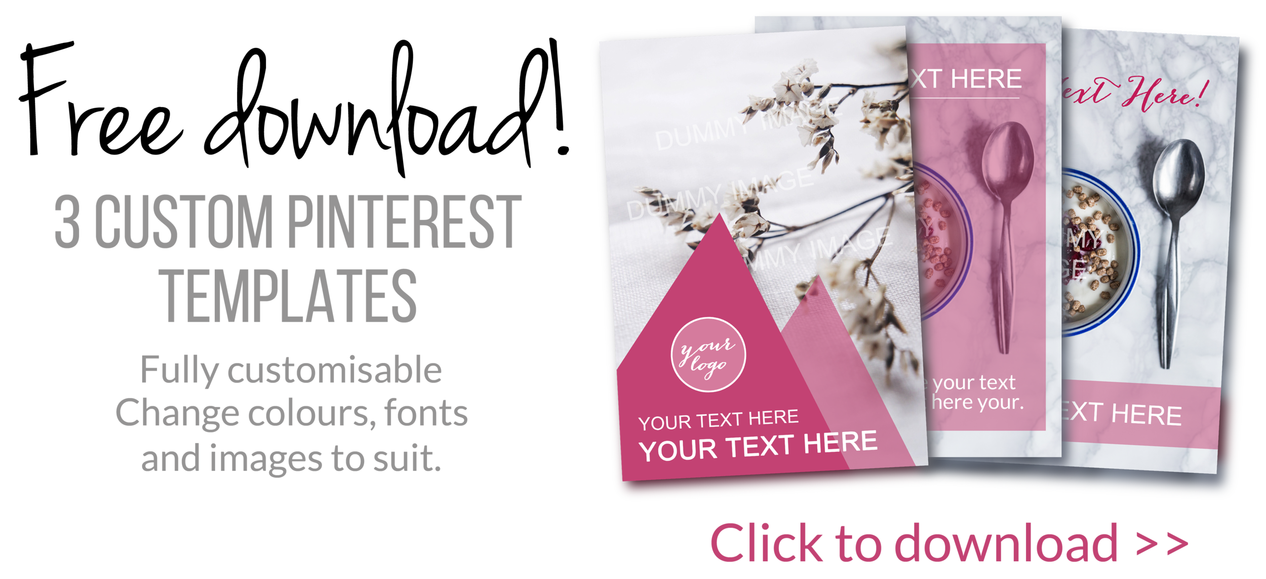 Why you absolutely need to be on pinterest + FREE download Custom Pinterest Templates!