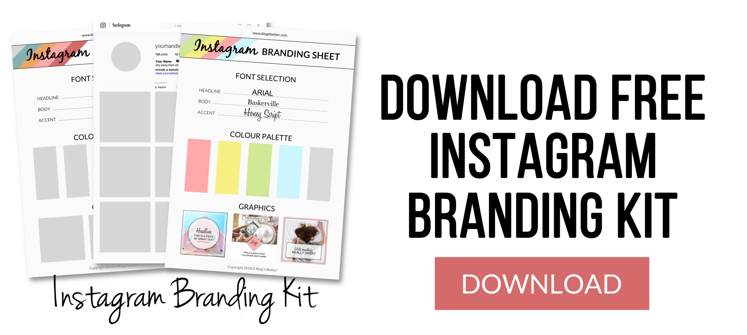 Download Free Instagram Branding Kit - Blog it Better - Blog Coaching & Social Media Help