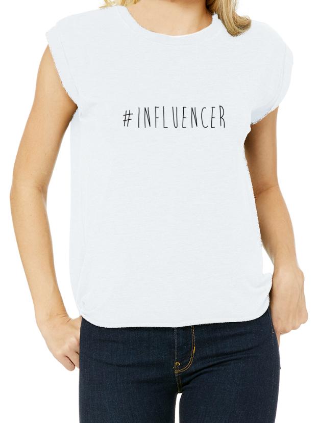 #Influencer - Rolled Cuff T-Shirt