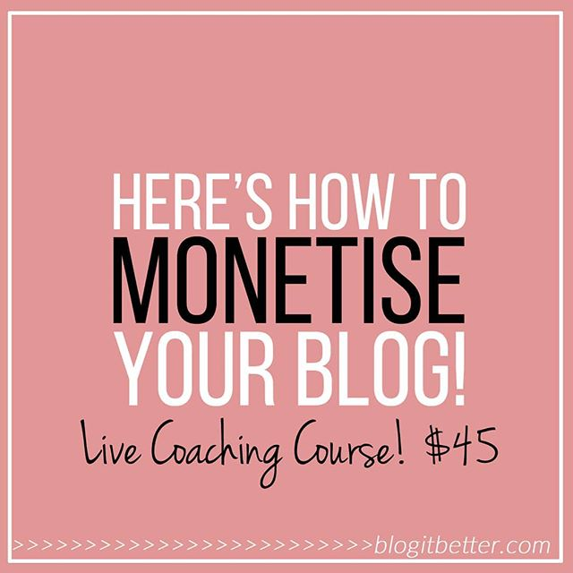 "Is your blog profitable right now?💰💰 . How much money does your blog pay you every month?🤔 . Are you even monetising at all??😫 . If you're not getting paid a good salary from your blog, do you even know why?🤯 . Do you know how to make money from your blog?💸 . Do you know how much you're worth?😵 . Do you know how to price yourself?🤑 . Do you know how to attract sponsors or start collaborations?🤝 . Do you know how to make your blog earn money when you're not actually working on it?🏝 . 👉👉If your answer to any if those questions is ""no"" or ""I am so screwed.."", you might wanna know that I've got 6 available spots for a group coaching course right now, where I will teach you EVERYTHING you need to know to get your blog monetised!💥💥 . I will get you from where you are today, to earning a regular salary from your blog! . And no, you don't need to have tens of thousands of followers or readers. There's no need for that. You can absolutely montise with a smaller audience, and I'll show you how 😊 . The course runs over three 60-minute Skype coaching sessions, and you'll be in a small group of other bloggers who are on the same path as you. . I will teach you: . ✔How to find your worth ✔How to set a price ✔How to monetise with a small blog ✔What NOT to do ✔6 ways you can earn money ✔What goes in a media kit ✔How to work with sponsors . 👉Plus: You will get a really good workbook that guides you through the process of determining YOUR individual price point, and making YOUR unique media kit.👍 . The sessions are $45 (bundle of 3 sessions) and there are only 6 (That's literally only six) available spots. . I'm taking bookings from today. Here's how you can get one: . 👉YELL out really loudly in the comment field 😄 👉DM me 👉Email me . First come, first served. . I'm super excited to help you make some money from all your hard work!! 😊 . Kristine x"