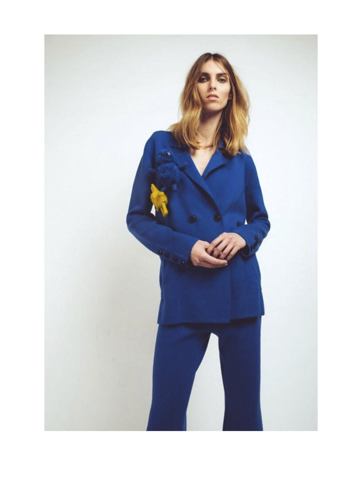 Cashmere suit in blue