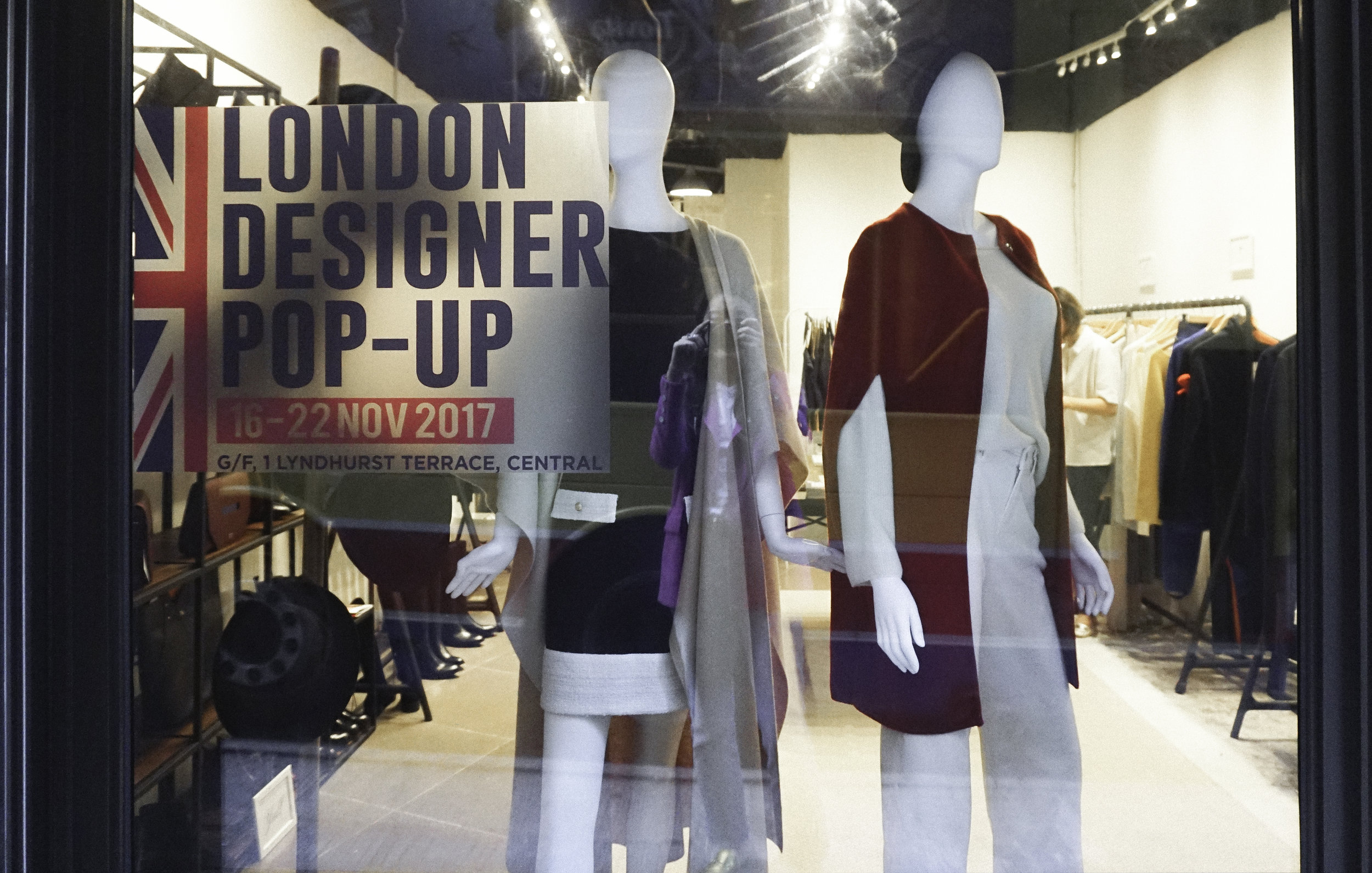 London designer popup Hong Kong