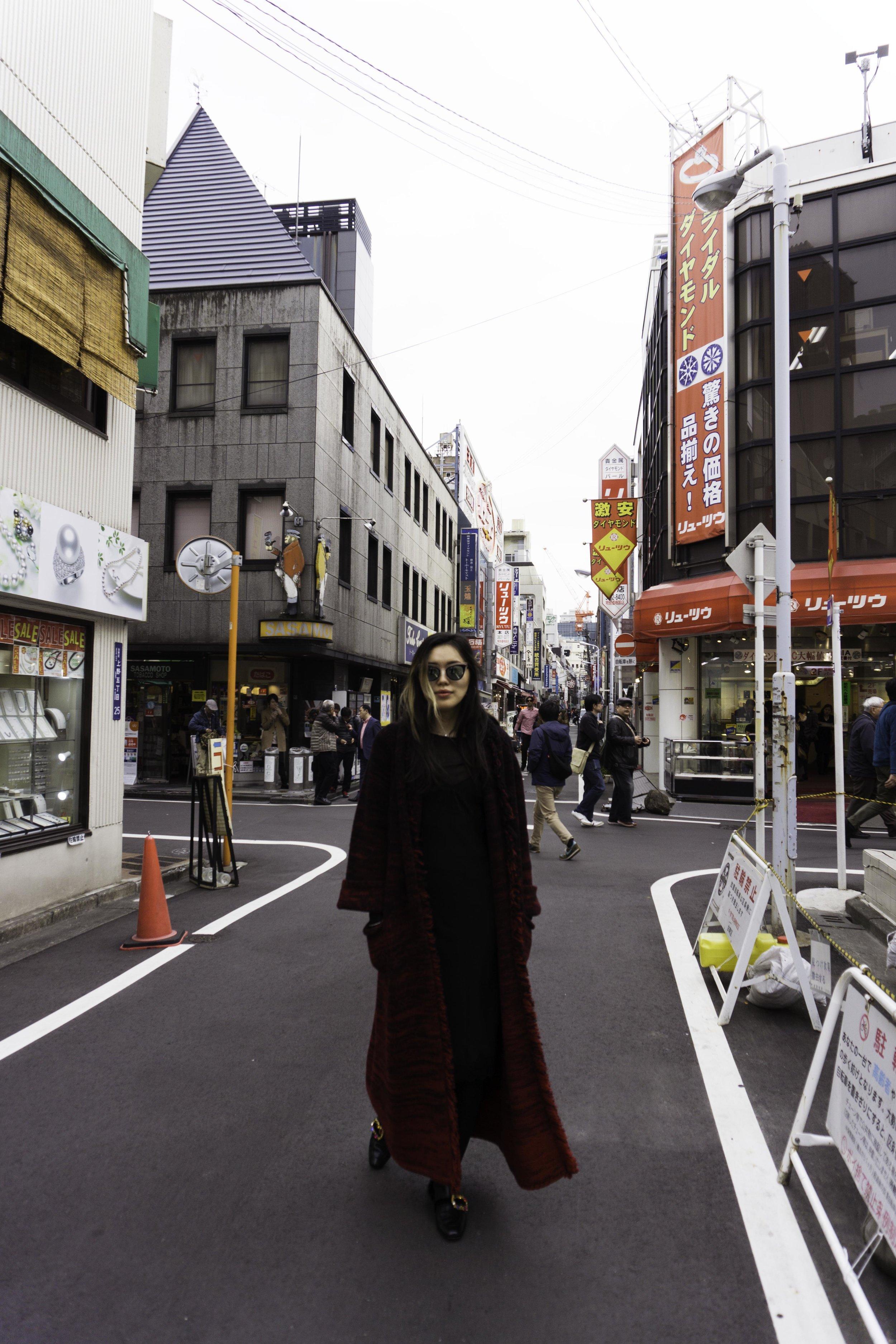 MANDKHAI in tokyo - pimp coat in red aw18