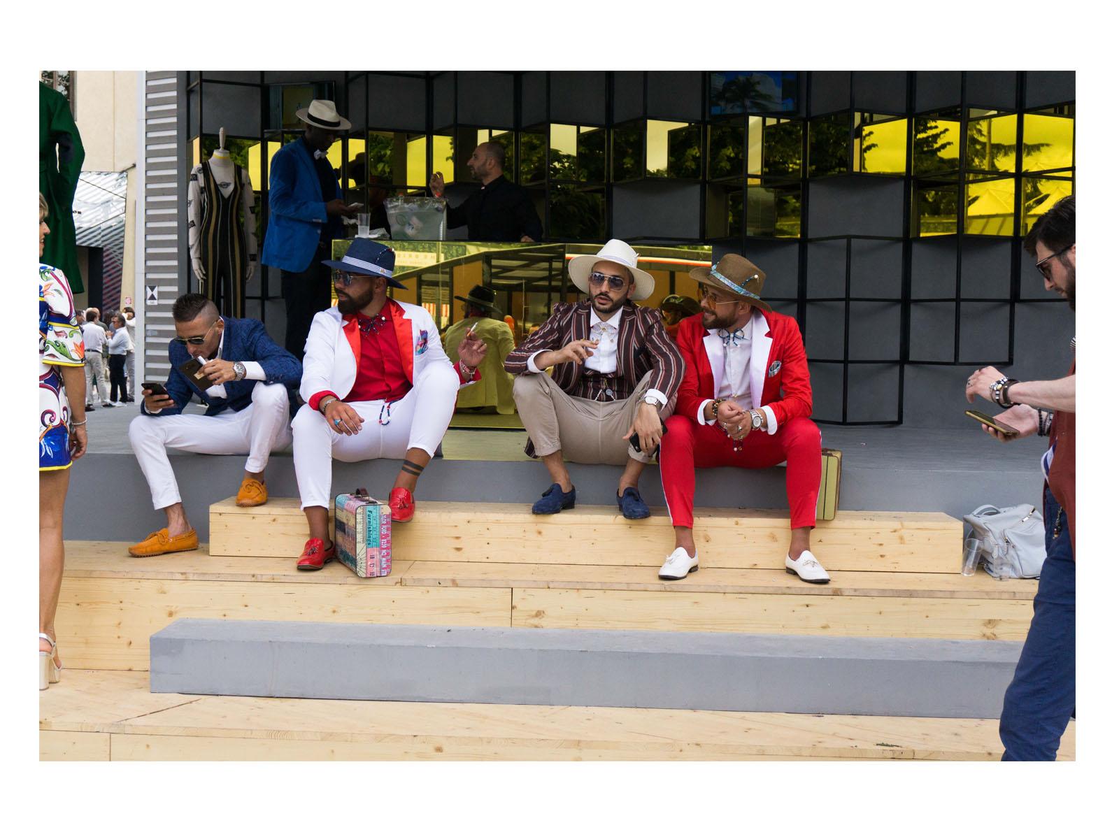 fashionable men at pitti uomo