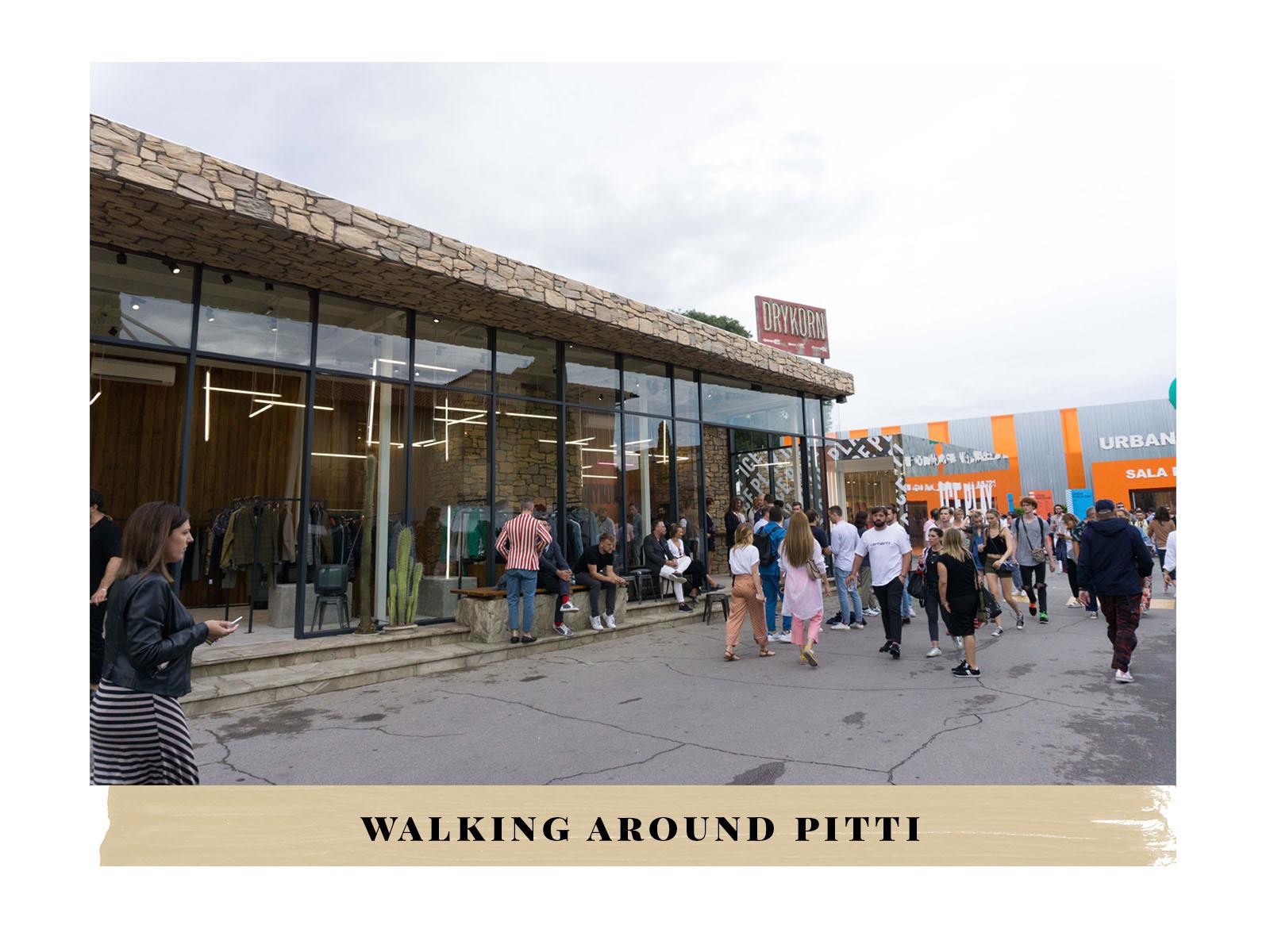 walking around pitti uomo