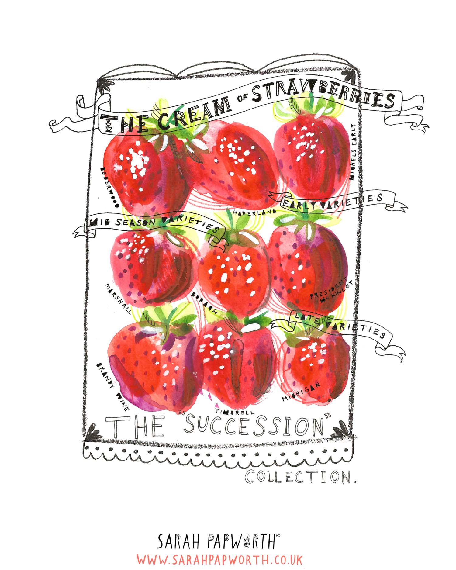 strawberry illustration food watercolour editorial by sarah papworth.jpg