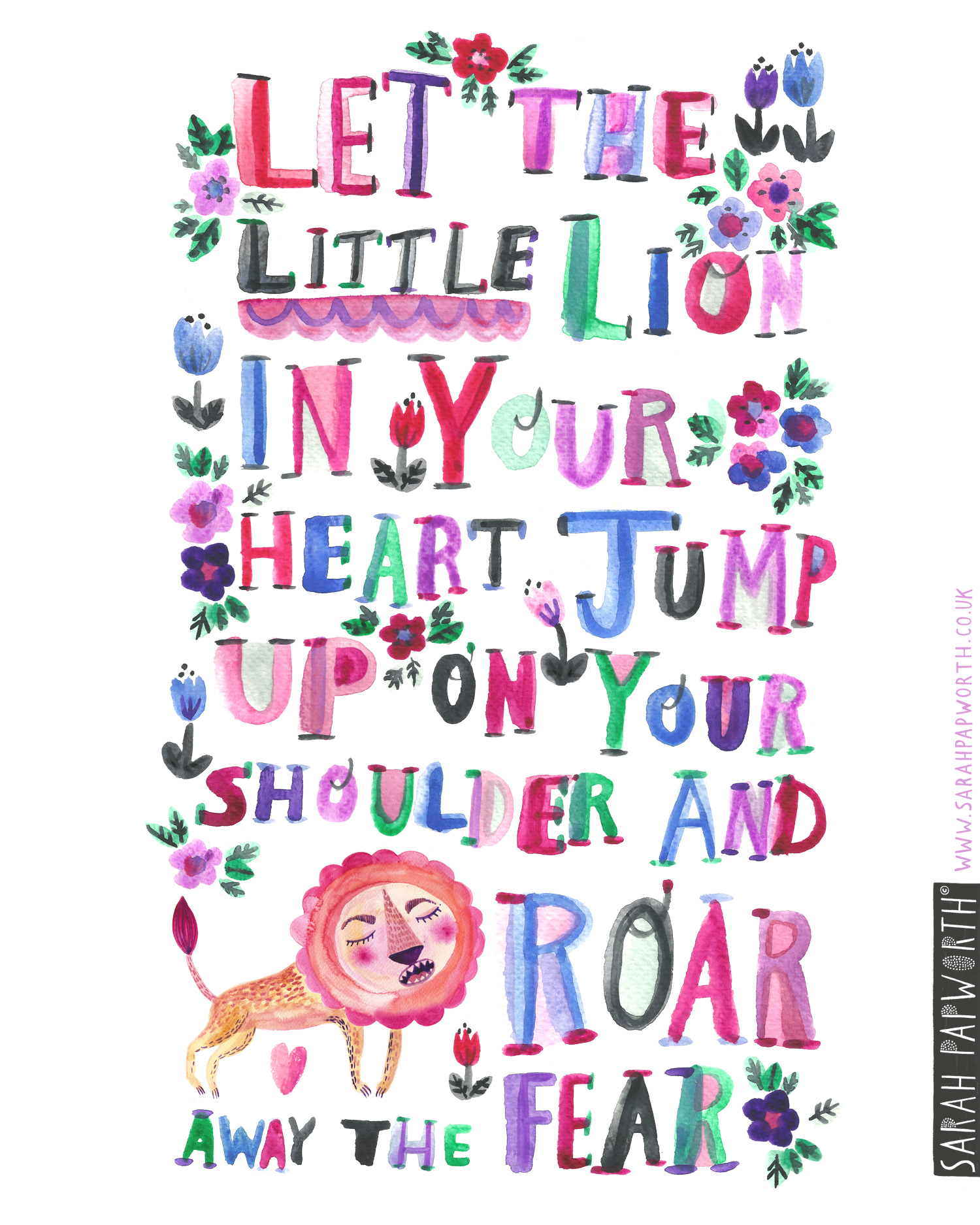 bravery quote by sarah papworth lion kids book illustration.jpg