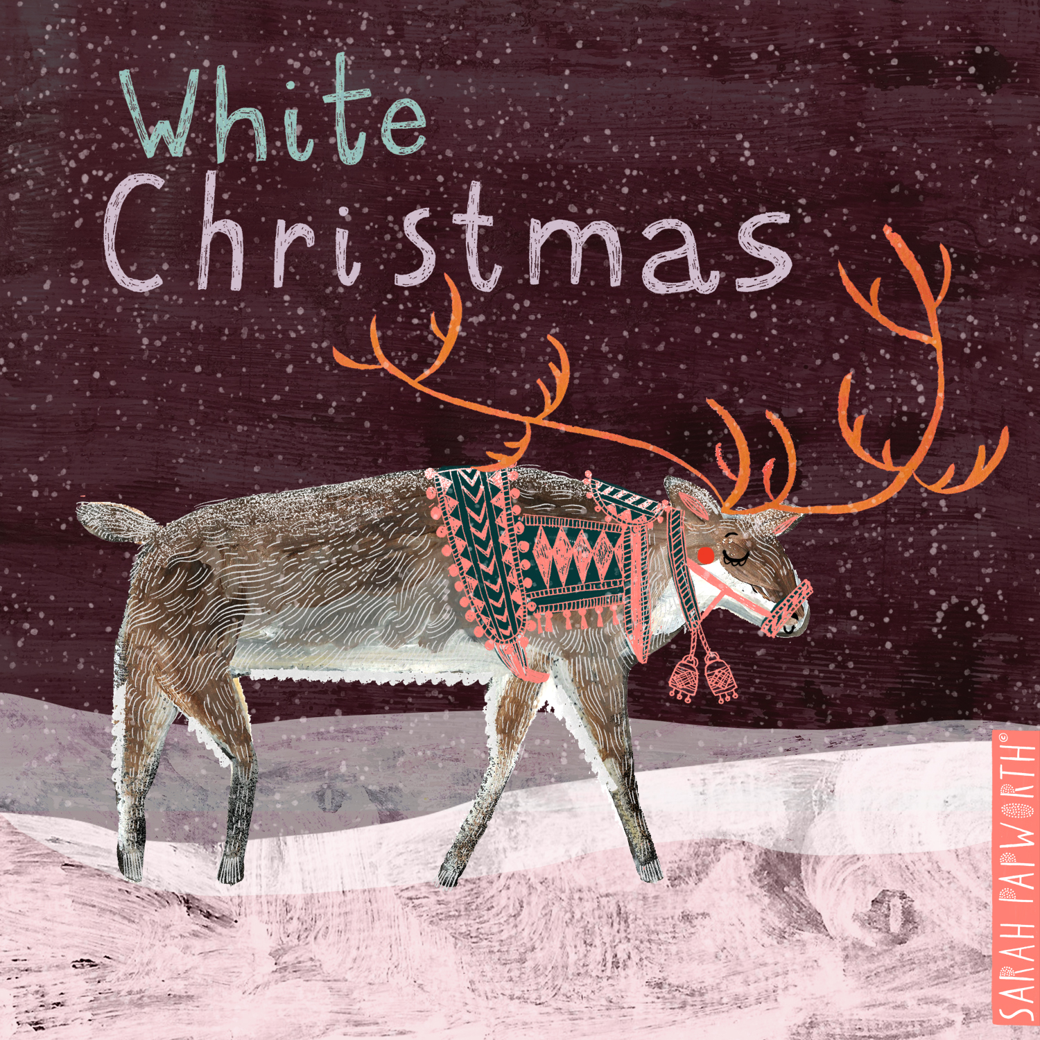 reindeer christmas design greeting card illustration sarah papworth.jpg