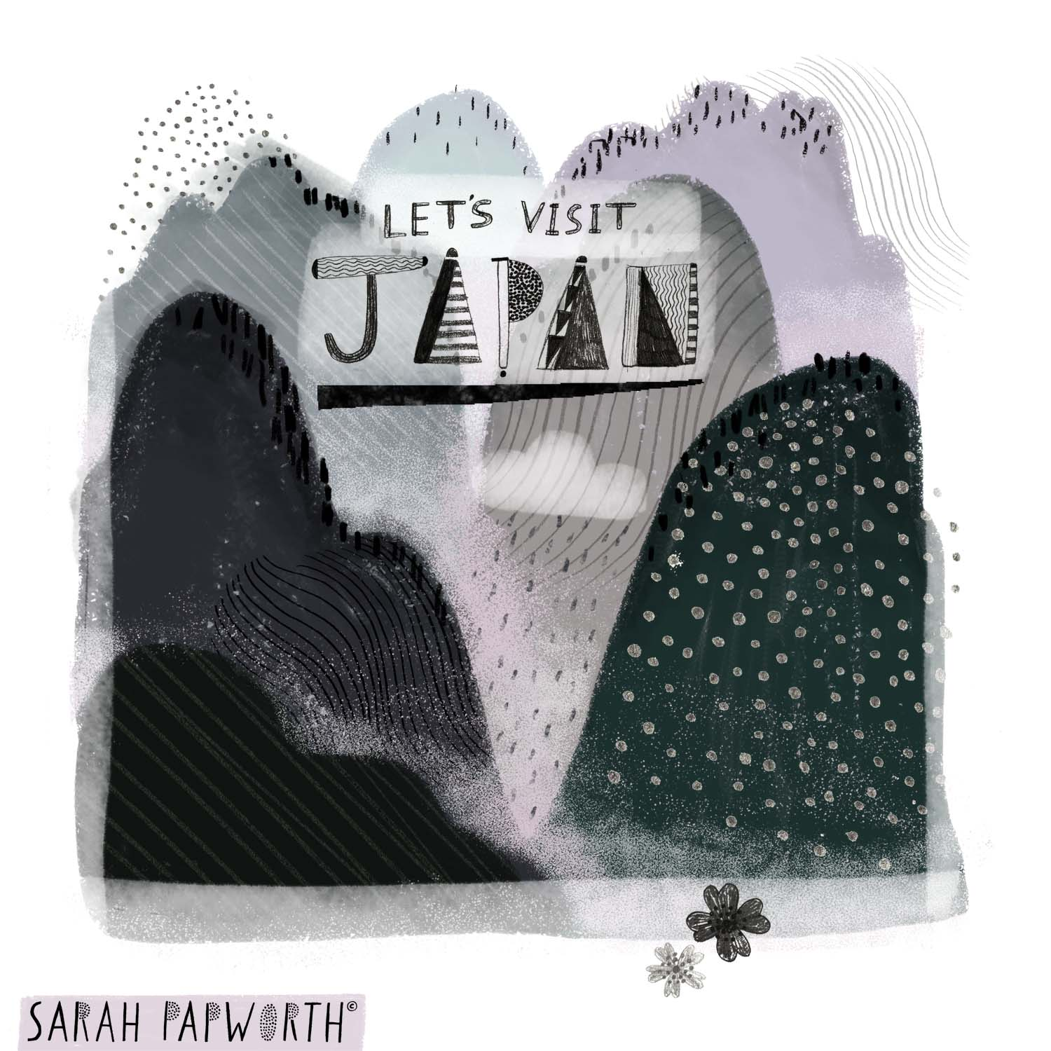 japan japanese mountains visit holiday editorial illustration sarah papworth.jpg
