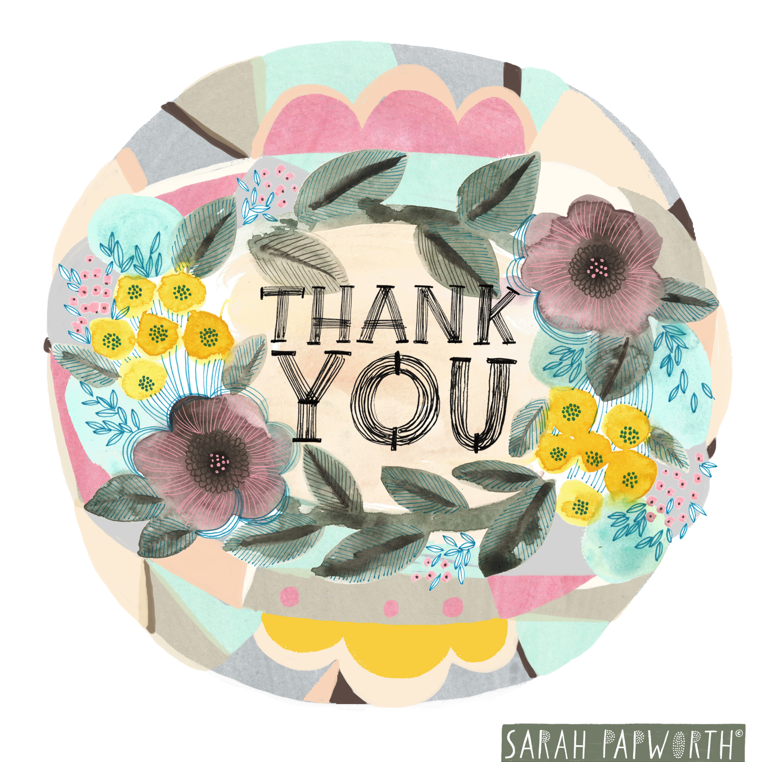 thank you greeting card world design hand lettering sarah papworth.jpg