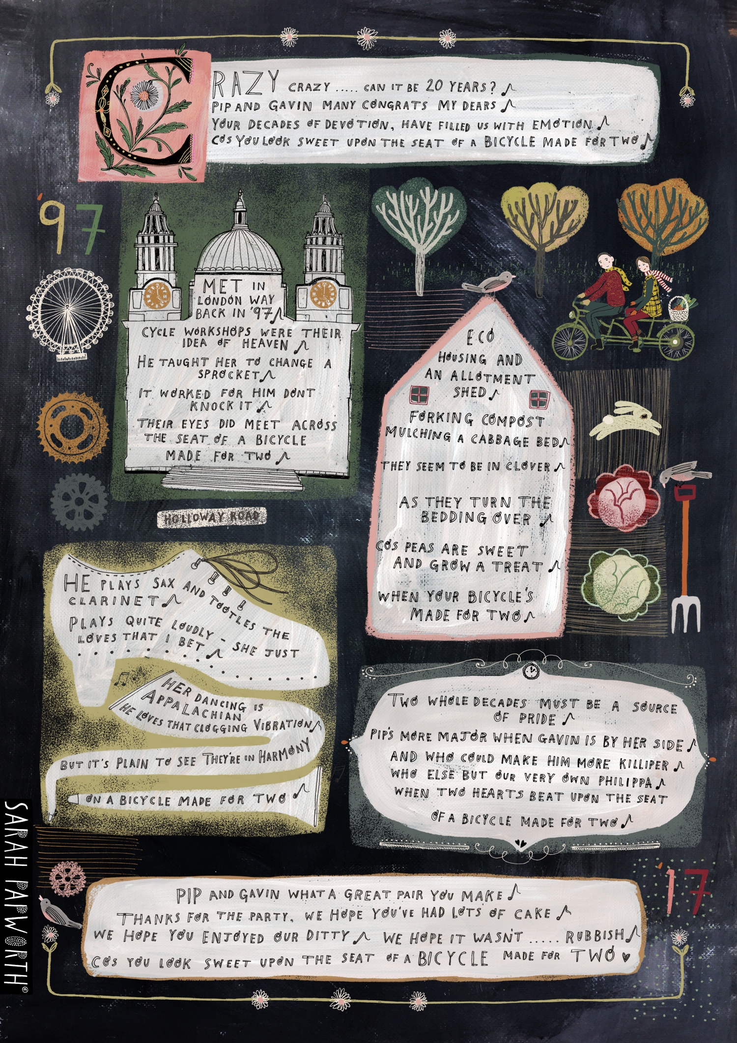 daisy daisy comissioned illustration song poem illustrated by sarah papworth.jpg