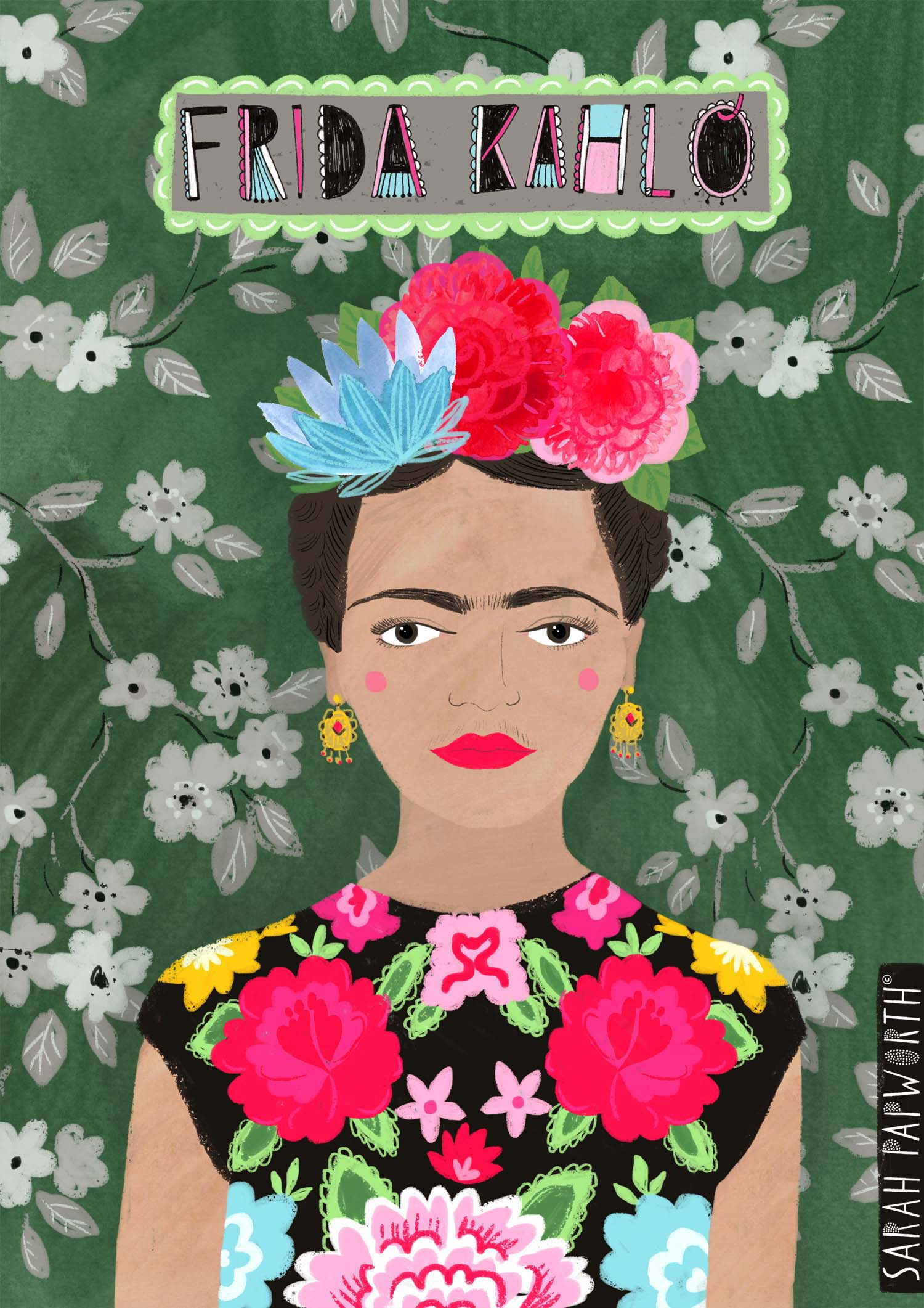frida khalo print artwork published book art sarah papworth.jpg