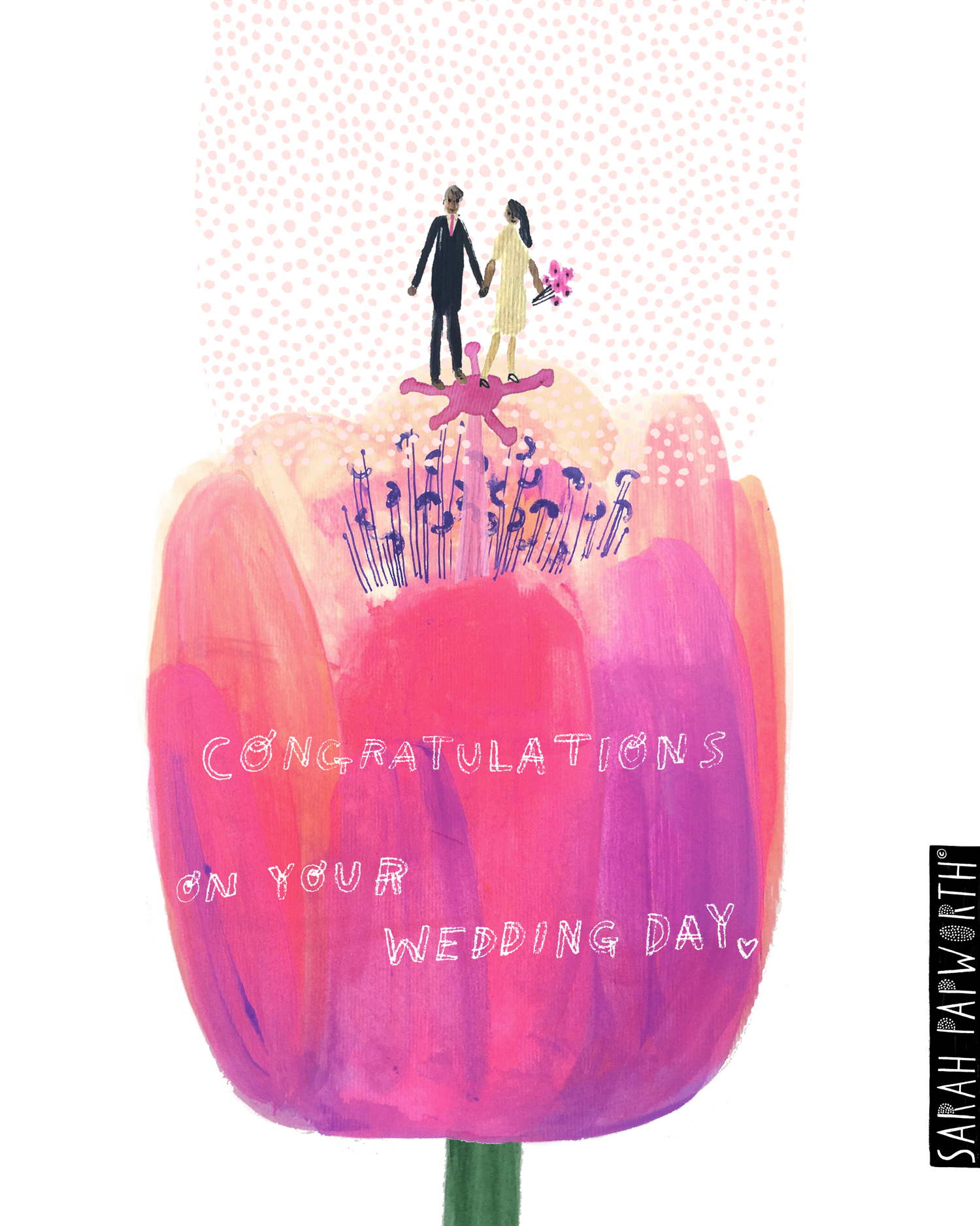 wedding day flower greeting occasion card sarah papworth.jpg