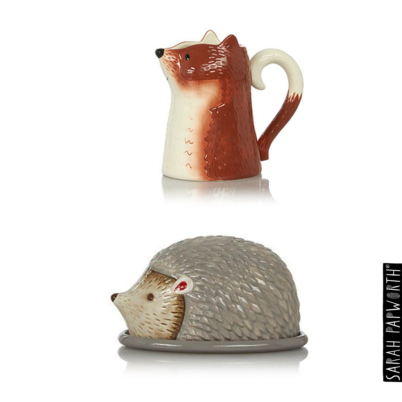 fox milk jug hedgehog butter dish asda home product design sarah papworth.jpg