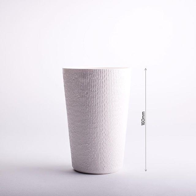 This image of -Fiber 160- explains how we designate names for our products. #porcelain #vase #texture #white # handmade #p3l1 #p3l1design