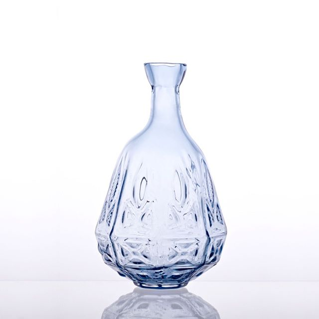 -ROCOCO- vase  #handblownglass #vase #crystal #pattern #blue #czechmade #p3l1 #p3l1design