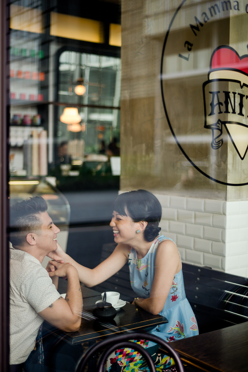 Anita Gelato Cafe engagement shoot