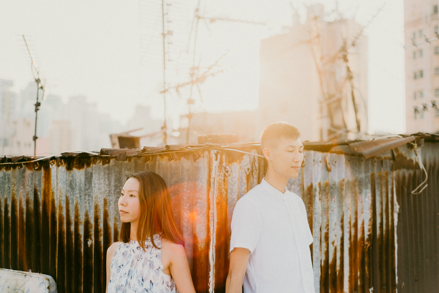 Hong Kong Rooftop Engagement Shoot