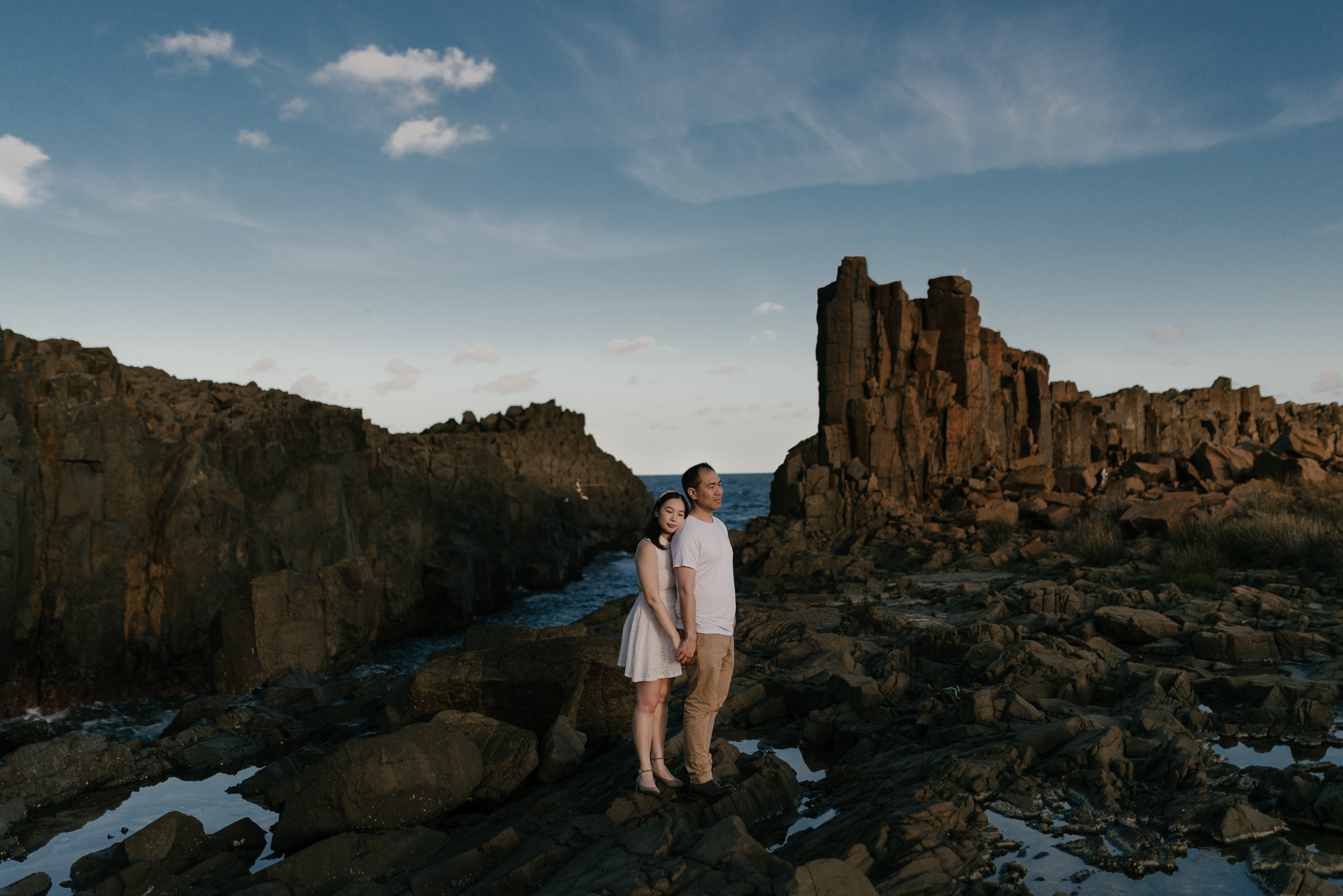 An other worldy engagement shoot at Bombo Quarry - We took engagement photos at this hidden gem down Sydney's south coast.