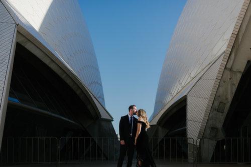 Iconic Engagement Shoot at Sydney Opera House