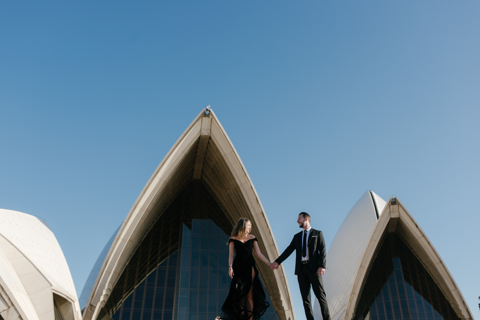 Iconic Sydney Opera House Engagement Shoot