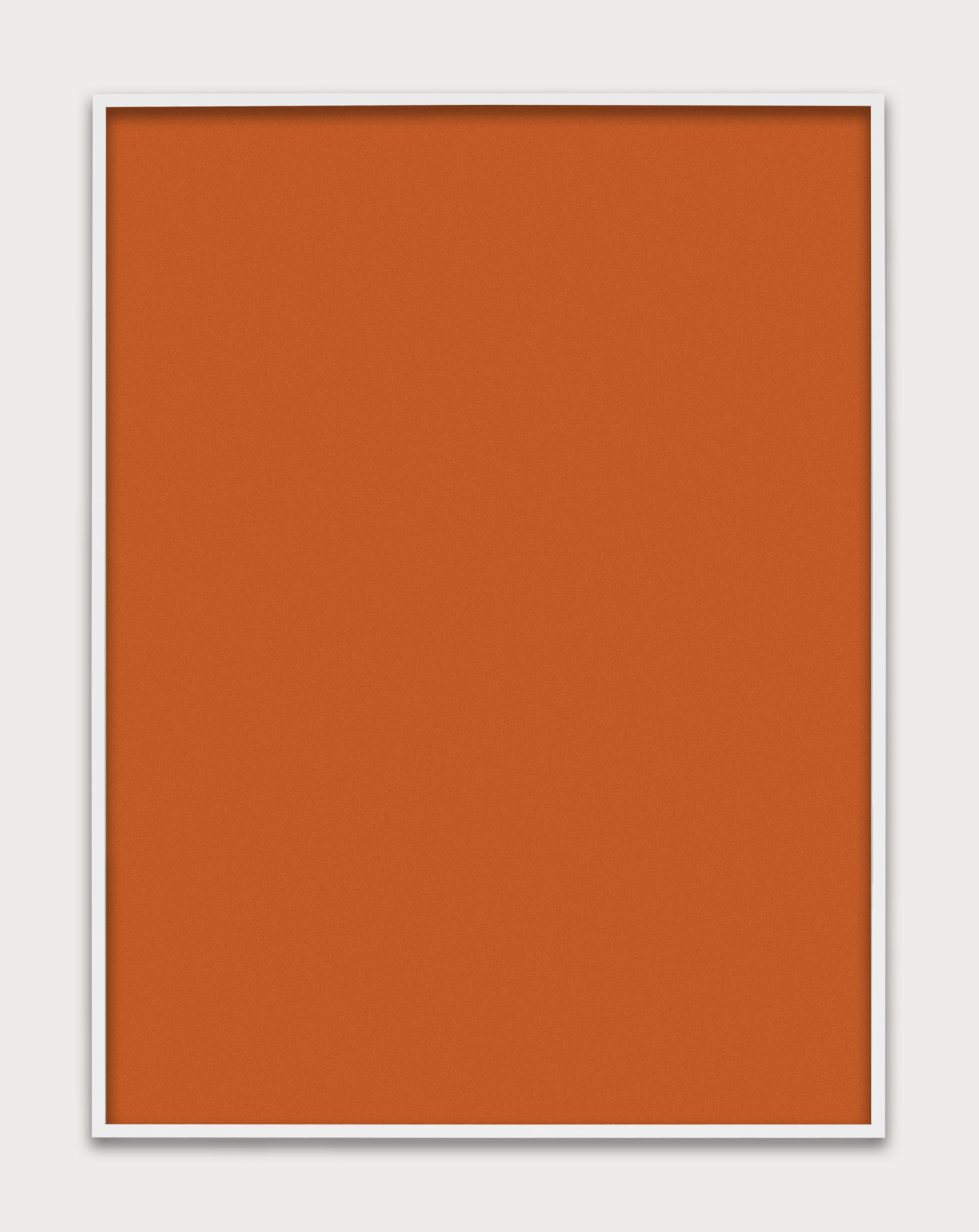 Untitled (Orange Monochrome), 2014 unique chromogenic print 152,4 x 122 cm - 60 x 48 inches