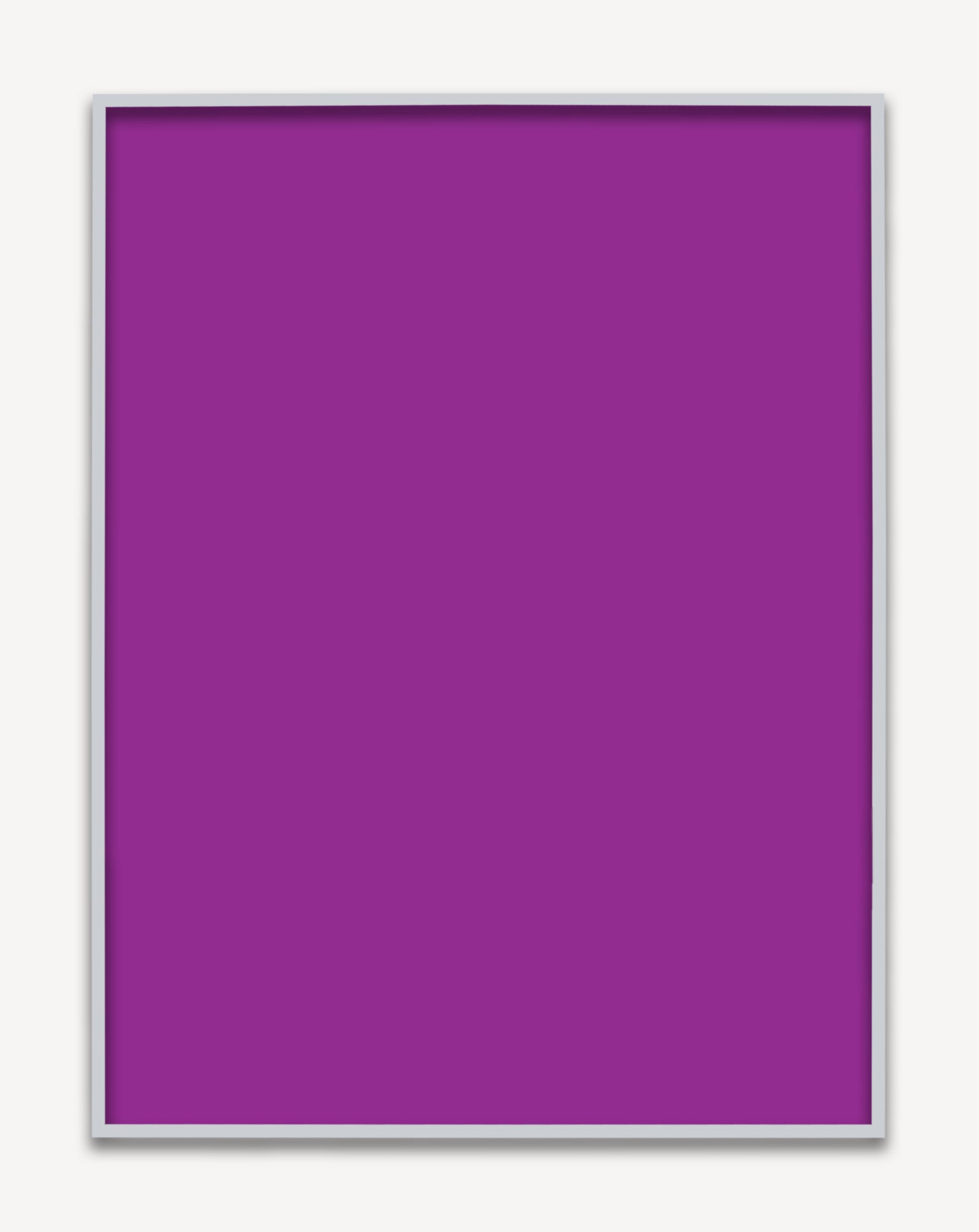 Untitled (Purple Monochrome), 2015 unique chromogenic print 153,5 x 123,5 cm - 60 3/8 x 45 5/8 inches (framed)