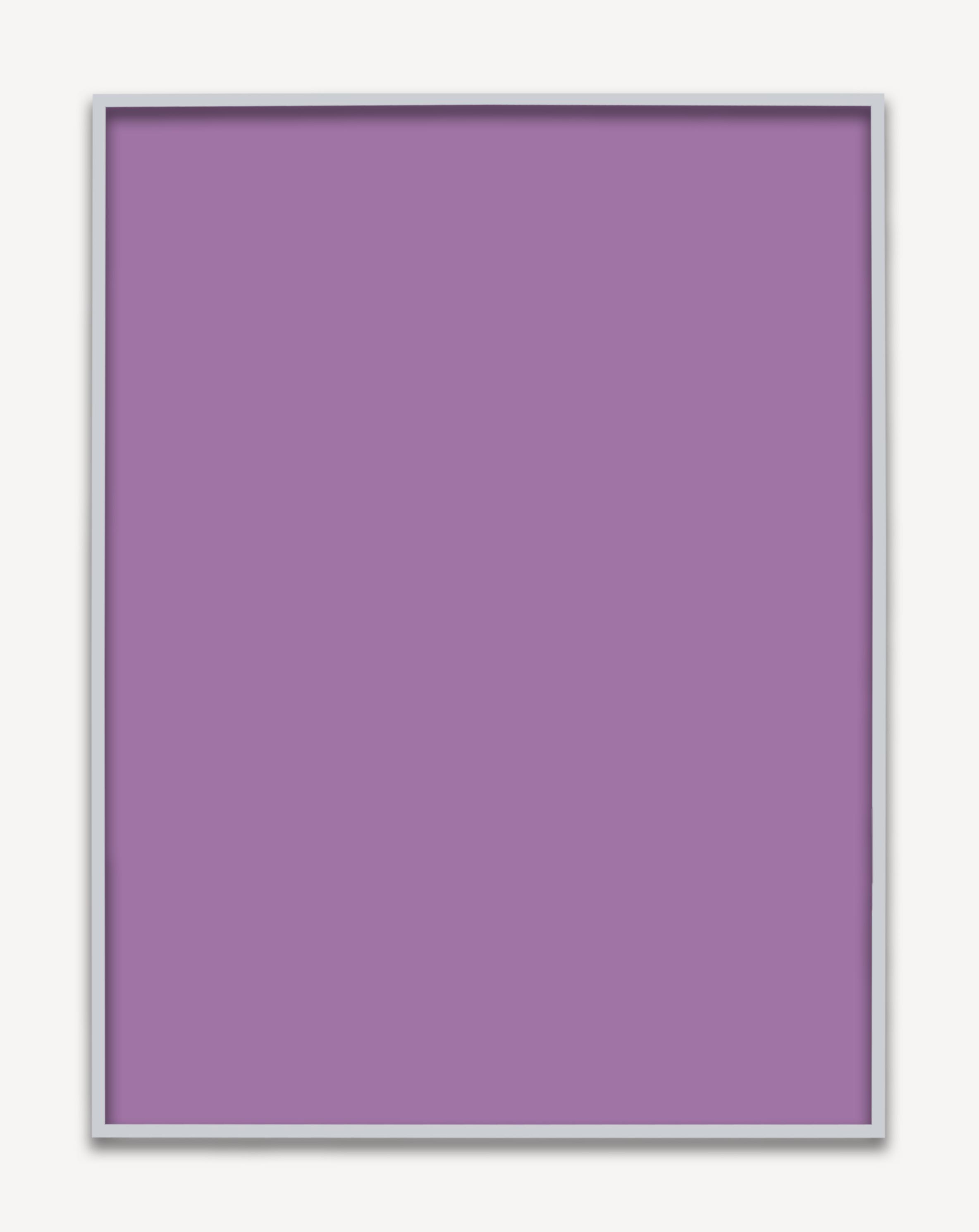 Untitled (Purple Monochrome 02), 2015 unique chromogenic print 153,5 x 123,5 cm - 60 3/8 x 48 5/8 inches (framed)