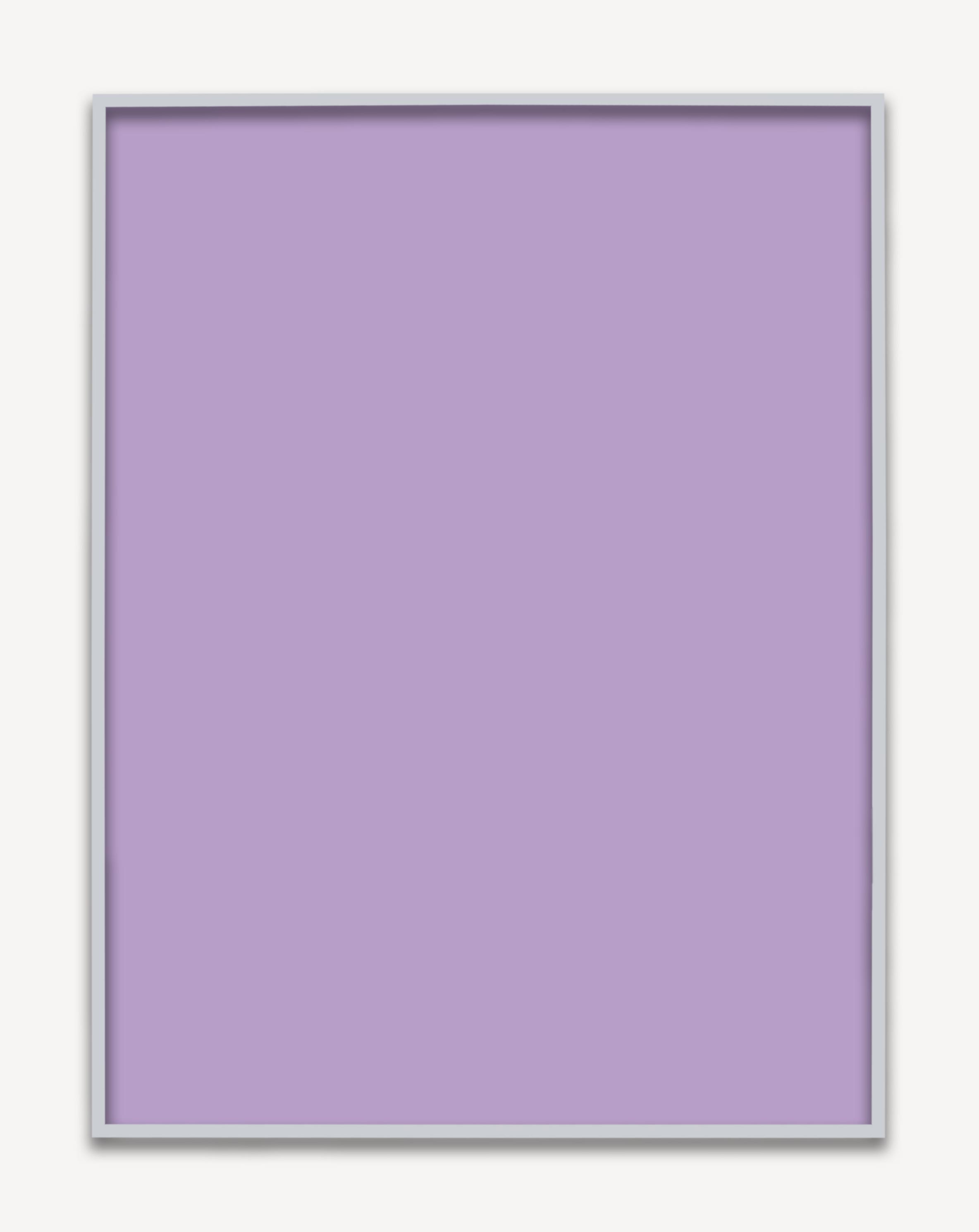 Untitled (Purple Monochrome 03), 2015 unique chromogenic print 153,5 x 123,5 cm - 60 3/8 x 48 5/8 inches (framed)